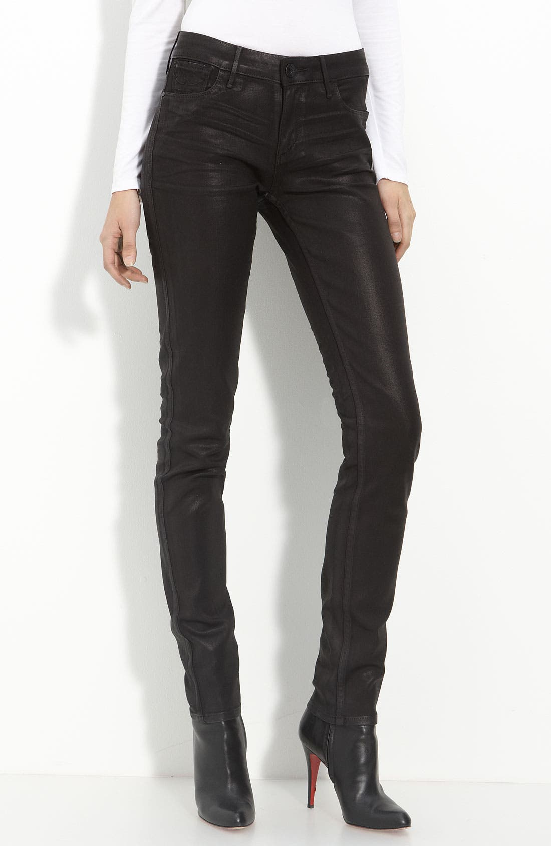 Main Image - Habitual 'Alice' Coated Skinny Stretch Jeans
