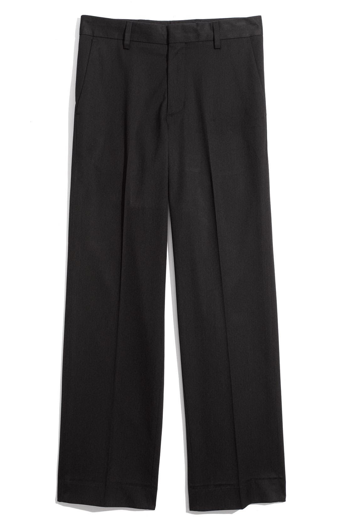 Main Image - C2 by Calibrate Flat Front Slim Pants (Big Boys)