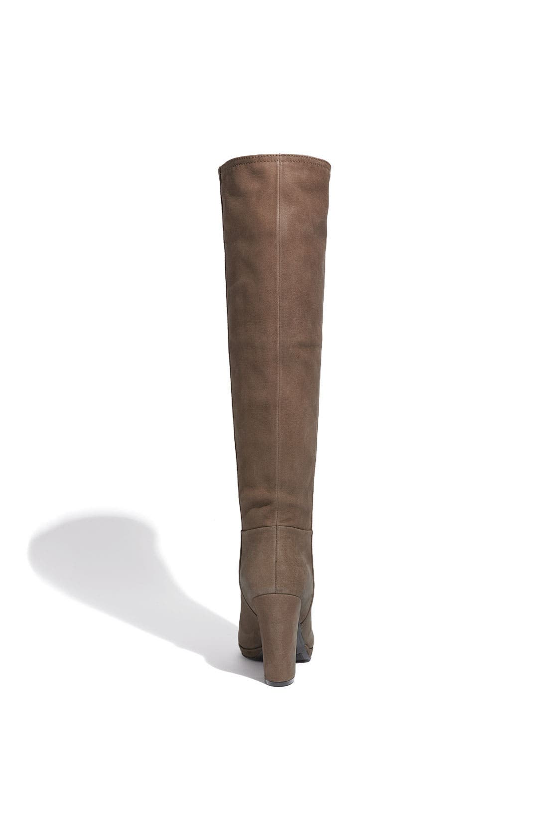 Leather Tall Boot,                             Alternate thumbnail 3, color,                             Mogano