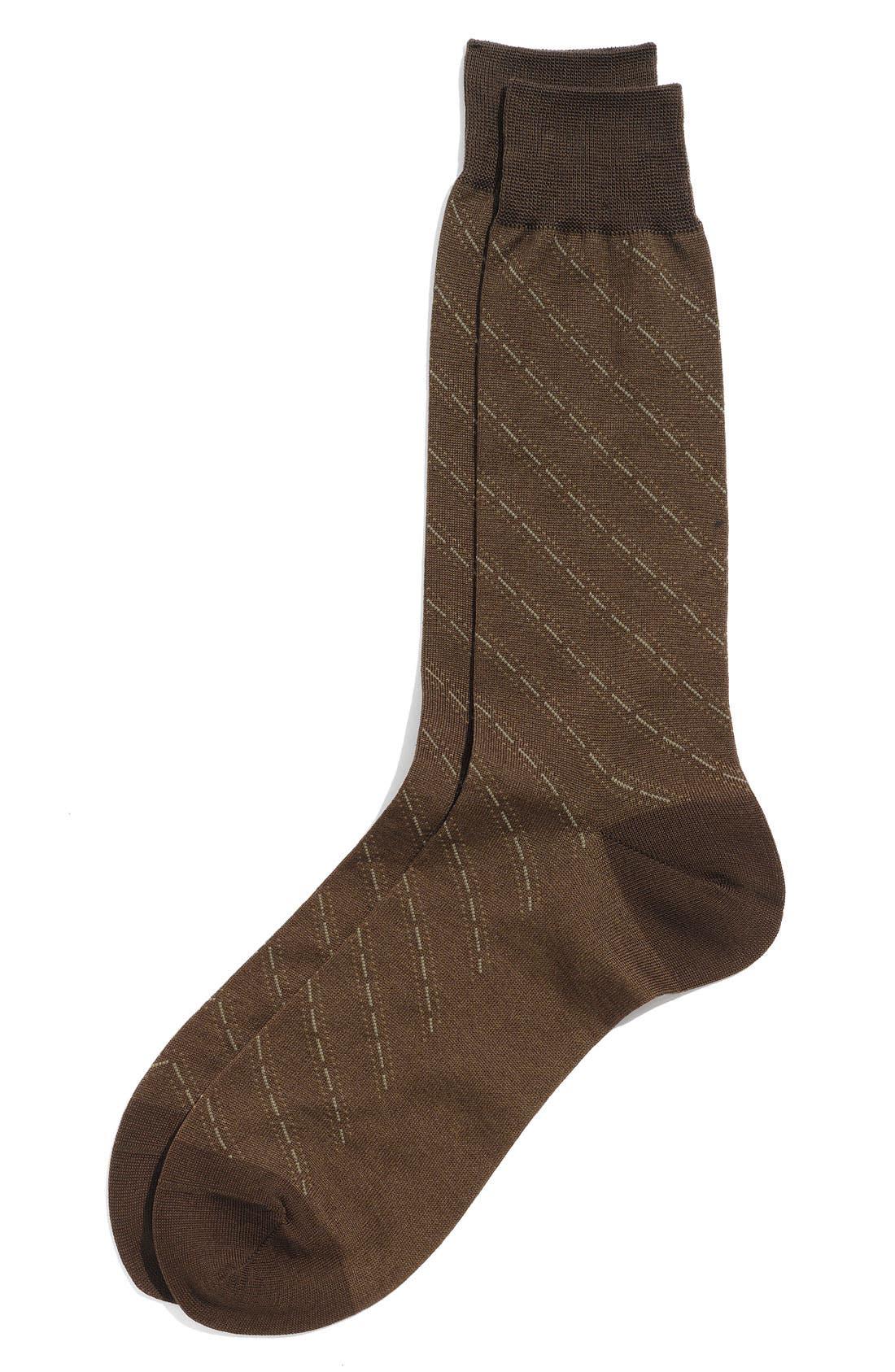 Alternate Image 1 Selected - Nordstrom Thick Diagonal Dash Socks