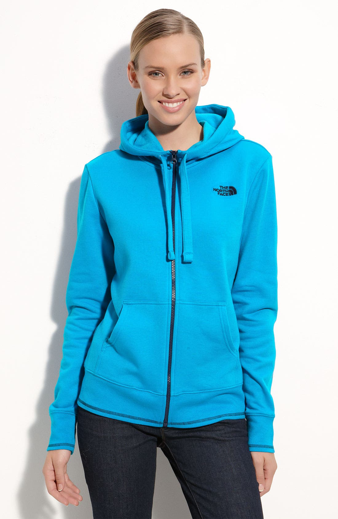 Alternate Image 1 Selected - The North Face Logo Stretch Hoodie