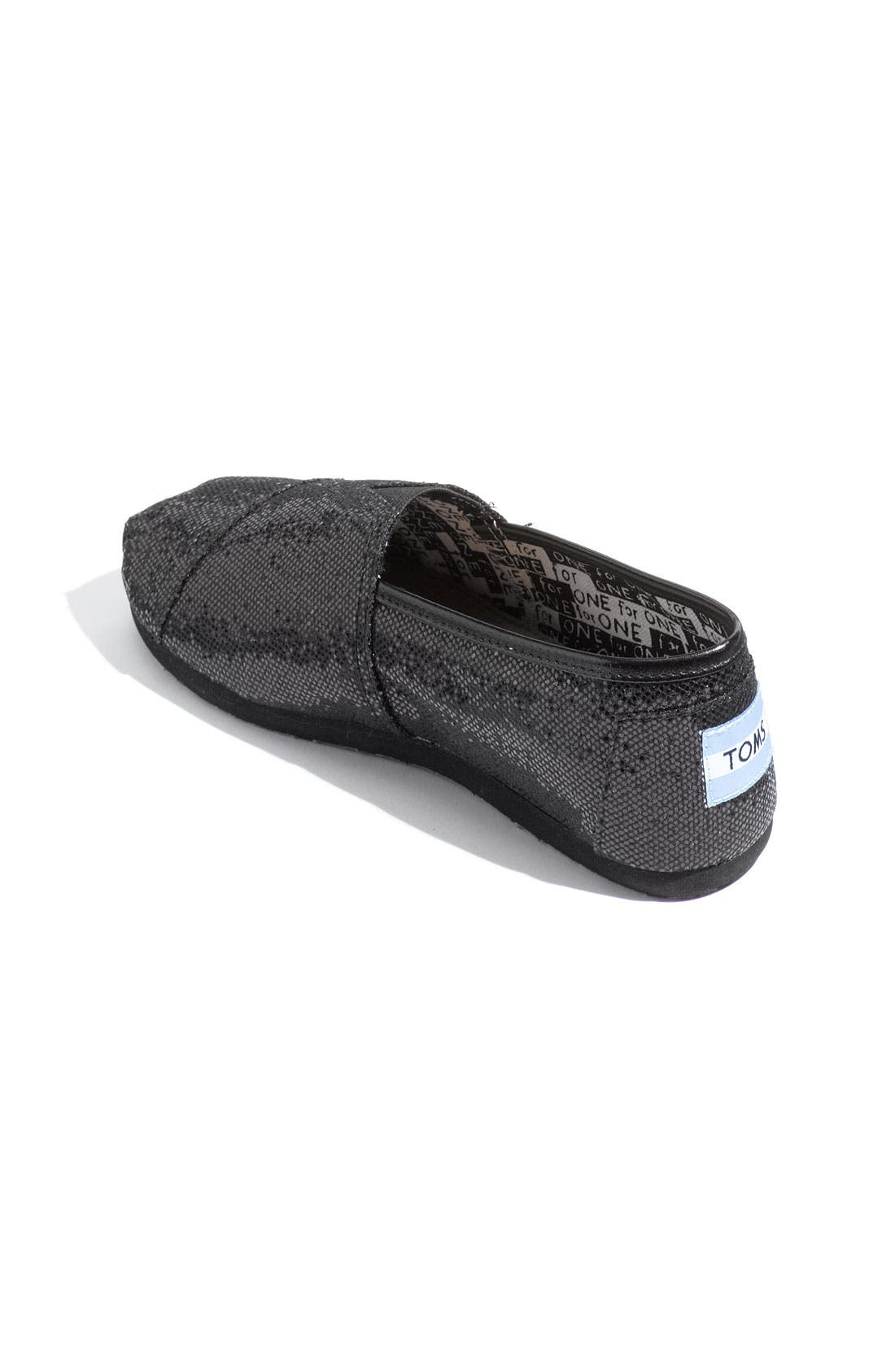 Alternate Image 2  - TOMS 'Classic Youth - Glitter' Slip-On (Toddler, Little Kid & Big Kid)