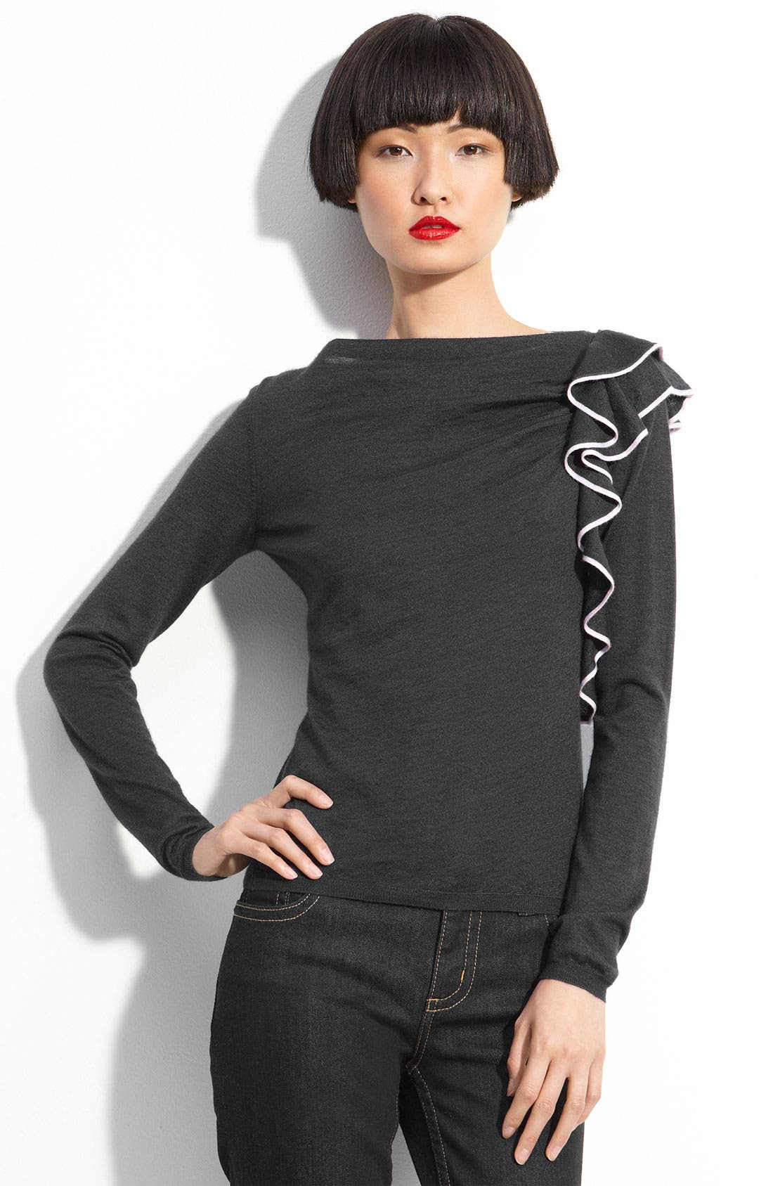 Alternate Image 1 Selected - RED Valentino Ruffle Sweater