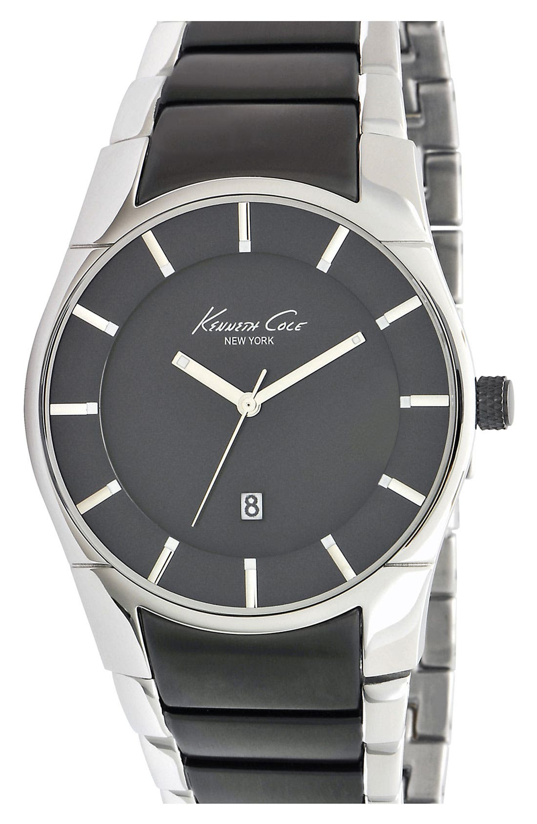 Main Image - Kenneth Cole New York Slim Bracelet Watch, 42mm