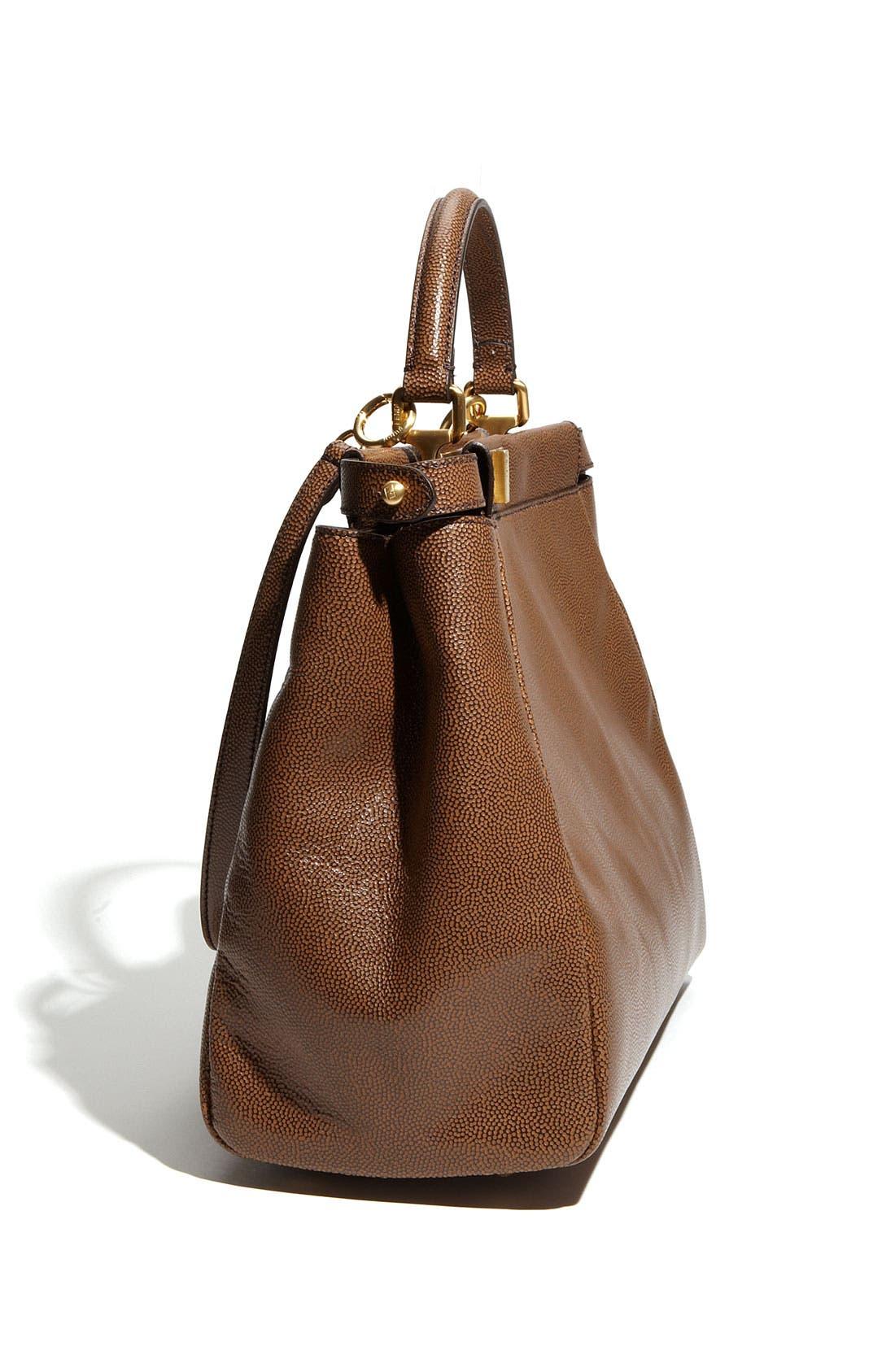 Alternate Image 2  - Fendi 'Peekaboo - Large' Glazed Leather Satchel