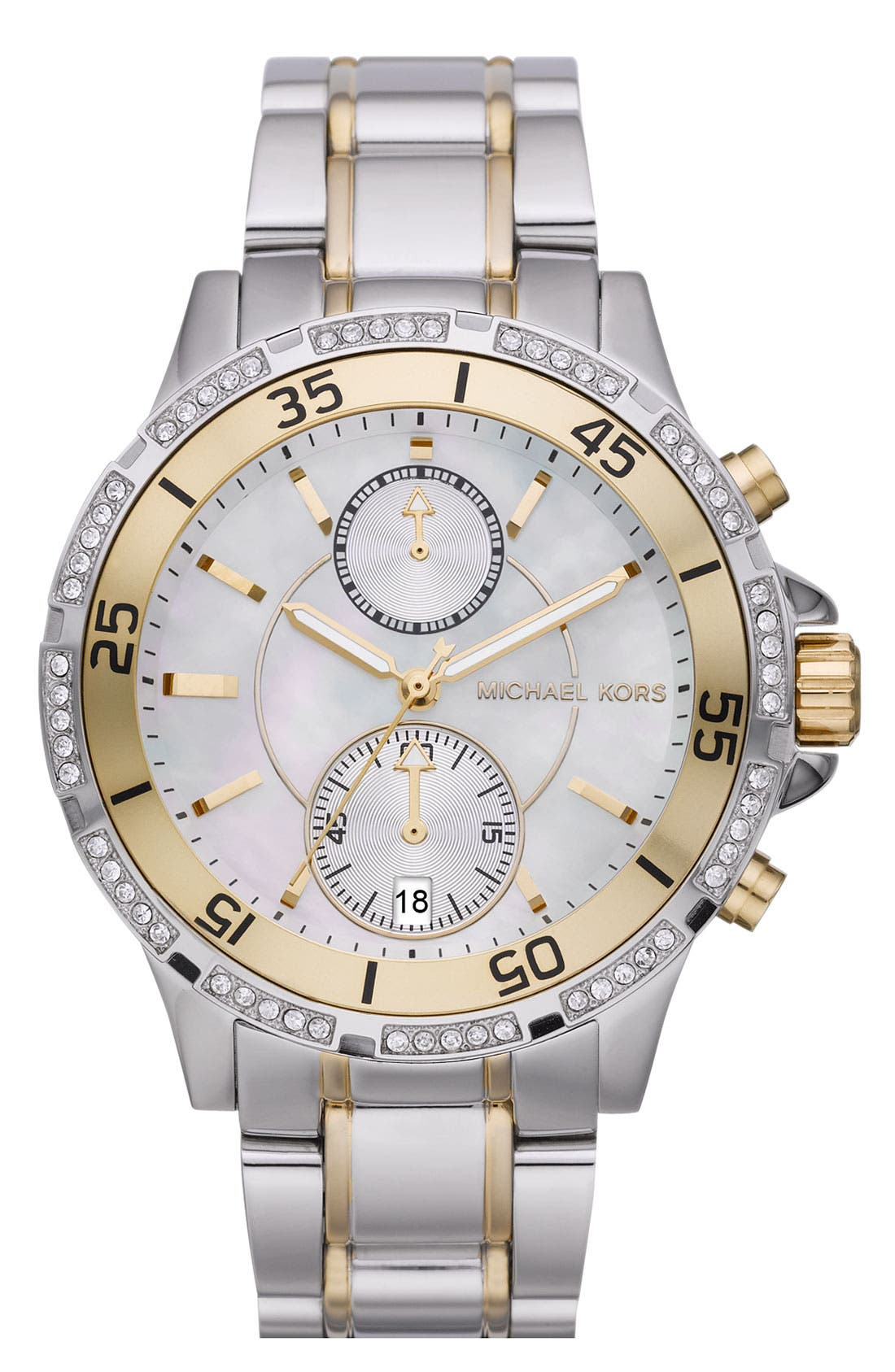 Alternate Image 1 Selected - Michael Kors 'Garret' Chronograph & Crystal Watch
