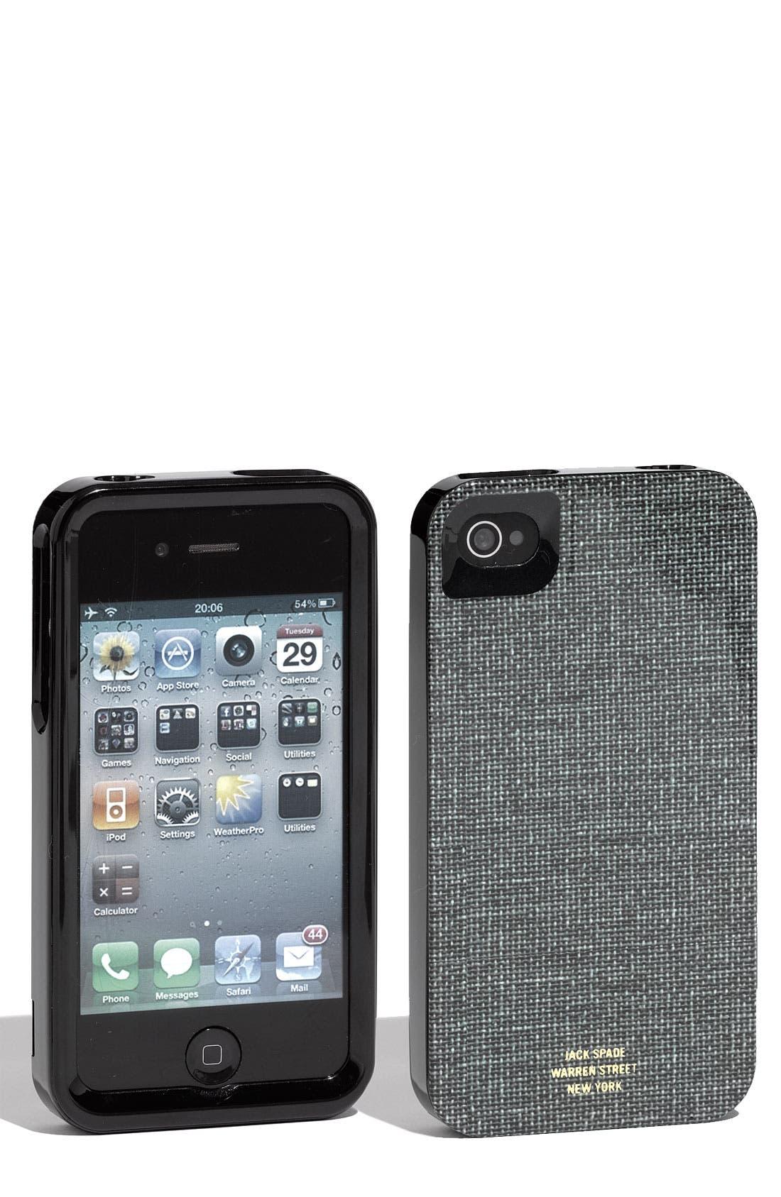 Alternate Image 1 Selected - Jack Spade 'Book Cloth' iPhone Case