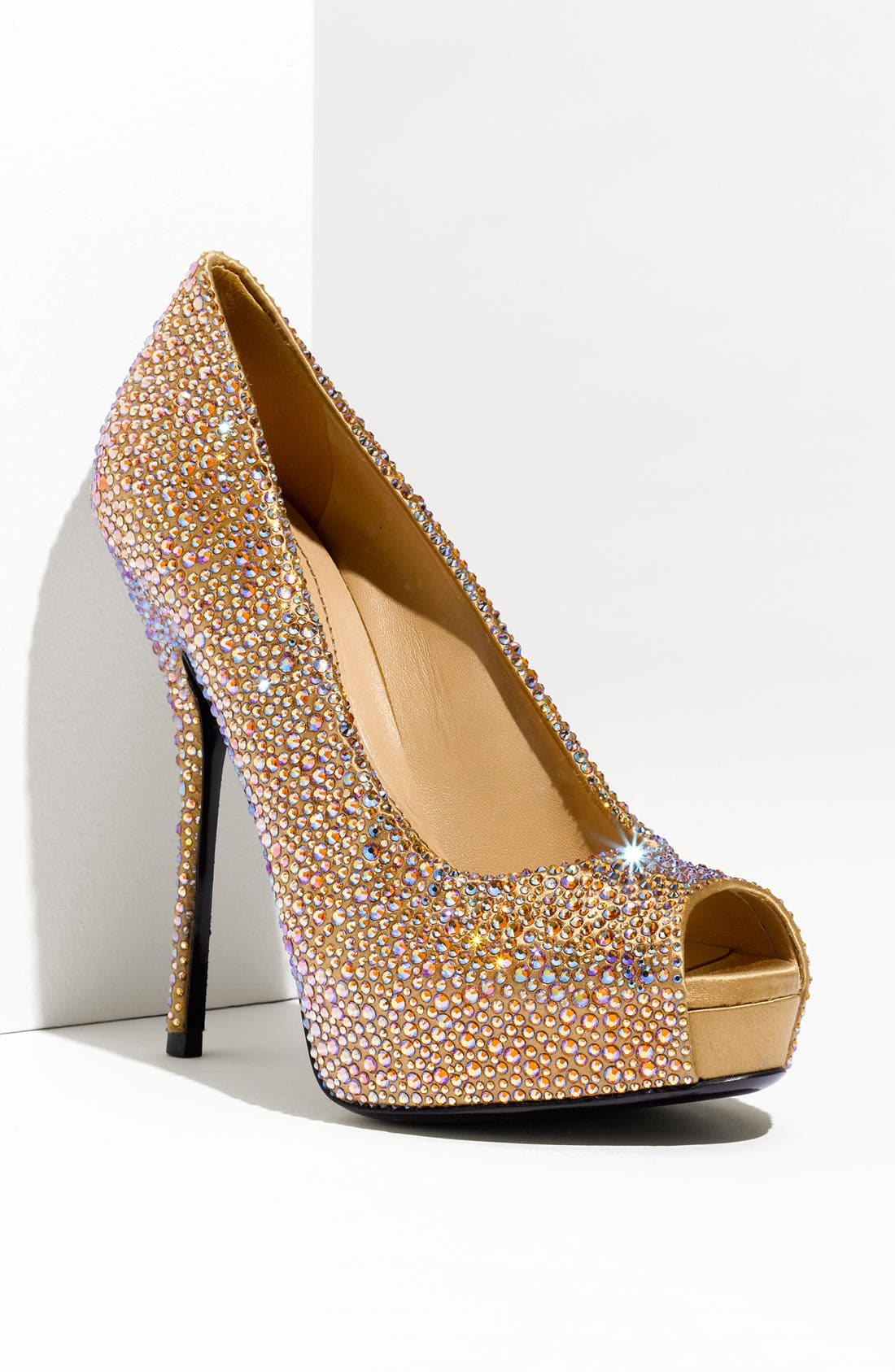 Alternate Image 1 Selected - Gucci 'Sofia' Crystal Embellished Platform Pump
