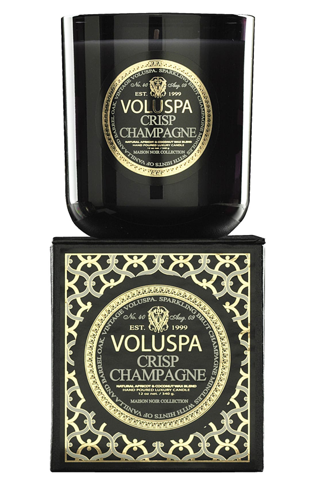 Alternate Image 1 Selected - Voluspa 'Maison Noir - Crisp Champagne' Scented Candle