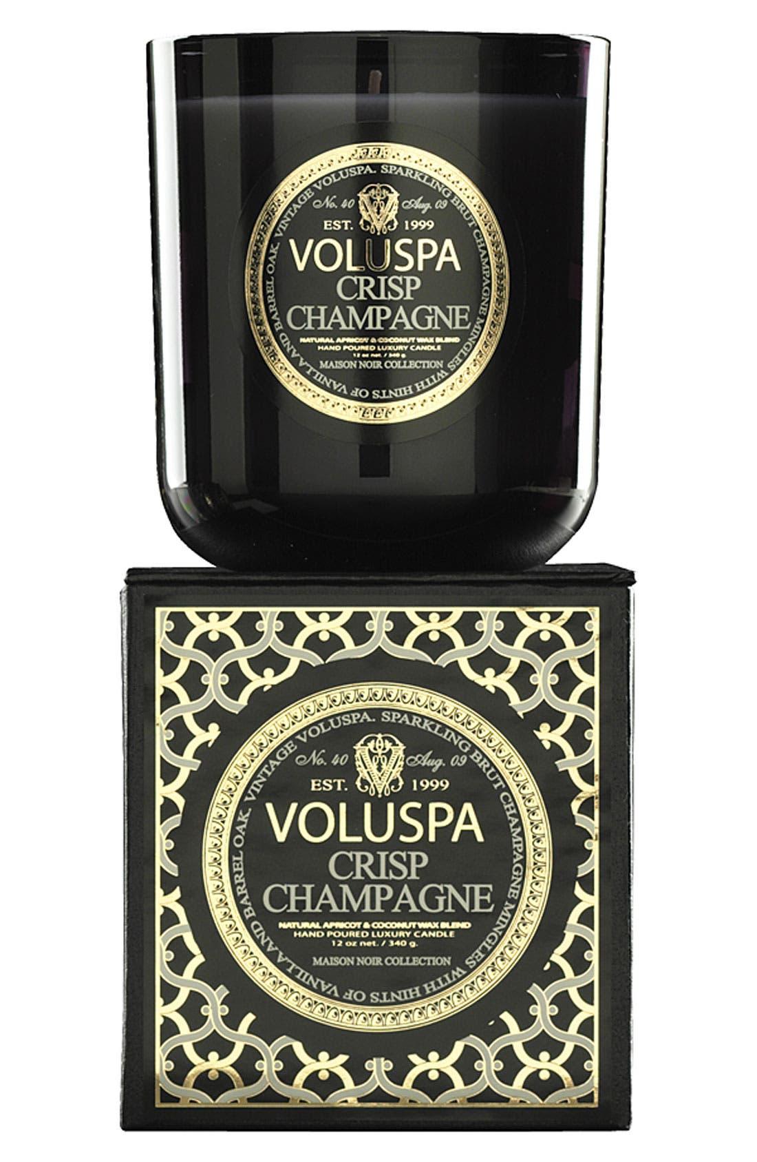 Voluspa Maison Noir - Crisp Champagne Scented Candle