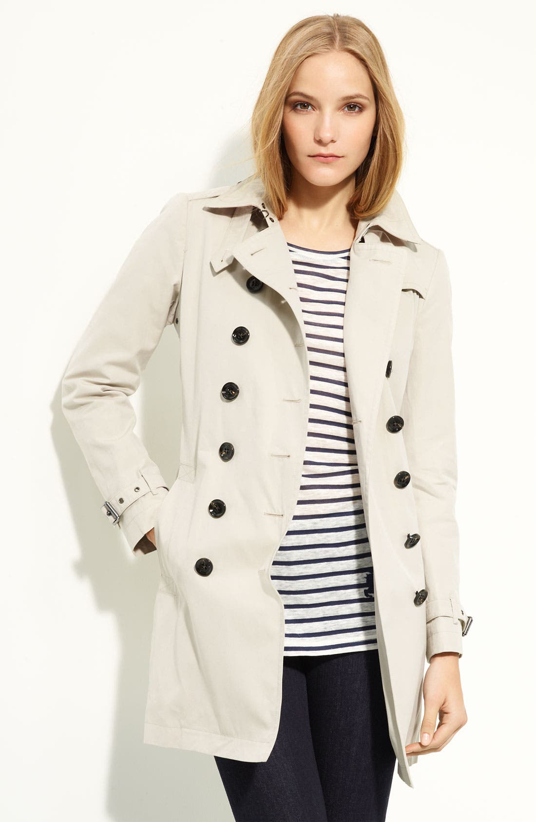 Alternate Image 2  - Burberry Brit 'Crombrook' Trench Coat