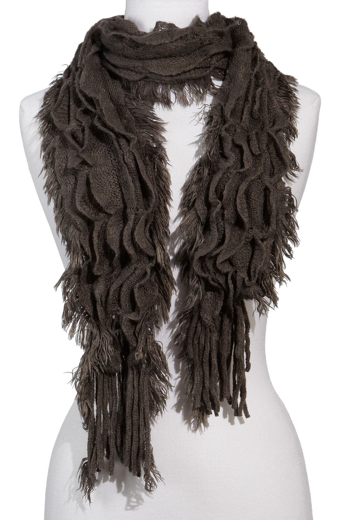 Alternate Image 1 Selected - Capelli of New York Ruched Ruffle Scarf (Girls)