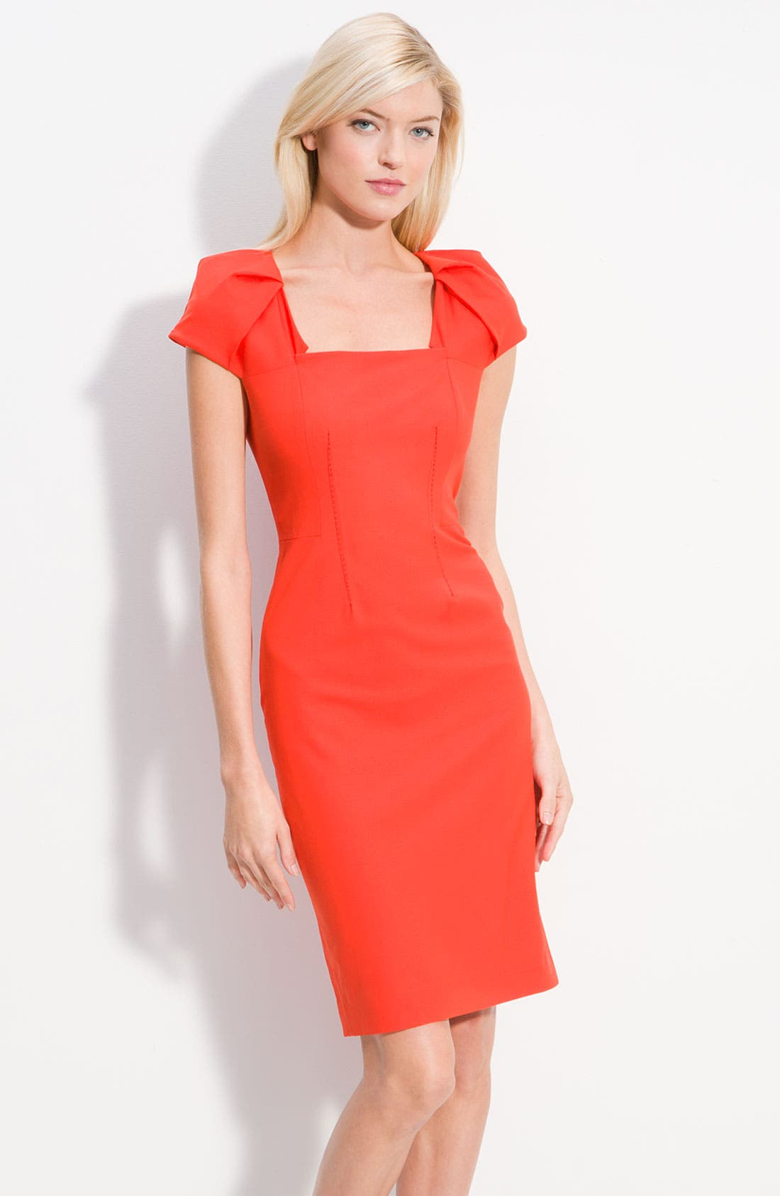 Alternate Image 1 Selected - Rachel Roy Origami Cap Sleeve Fitted Dress