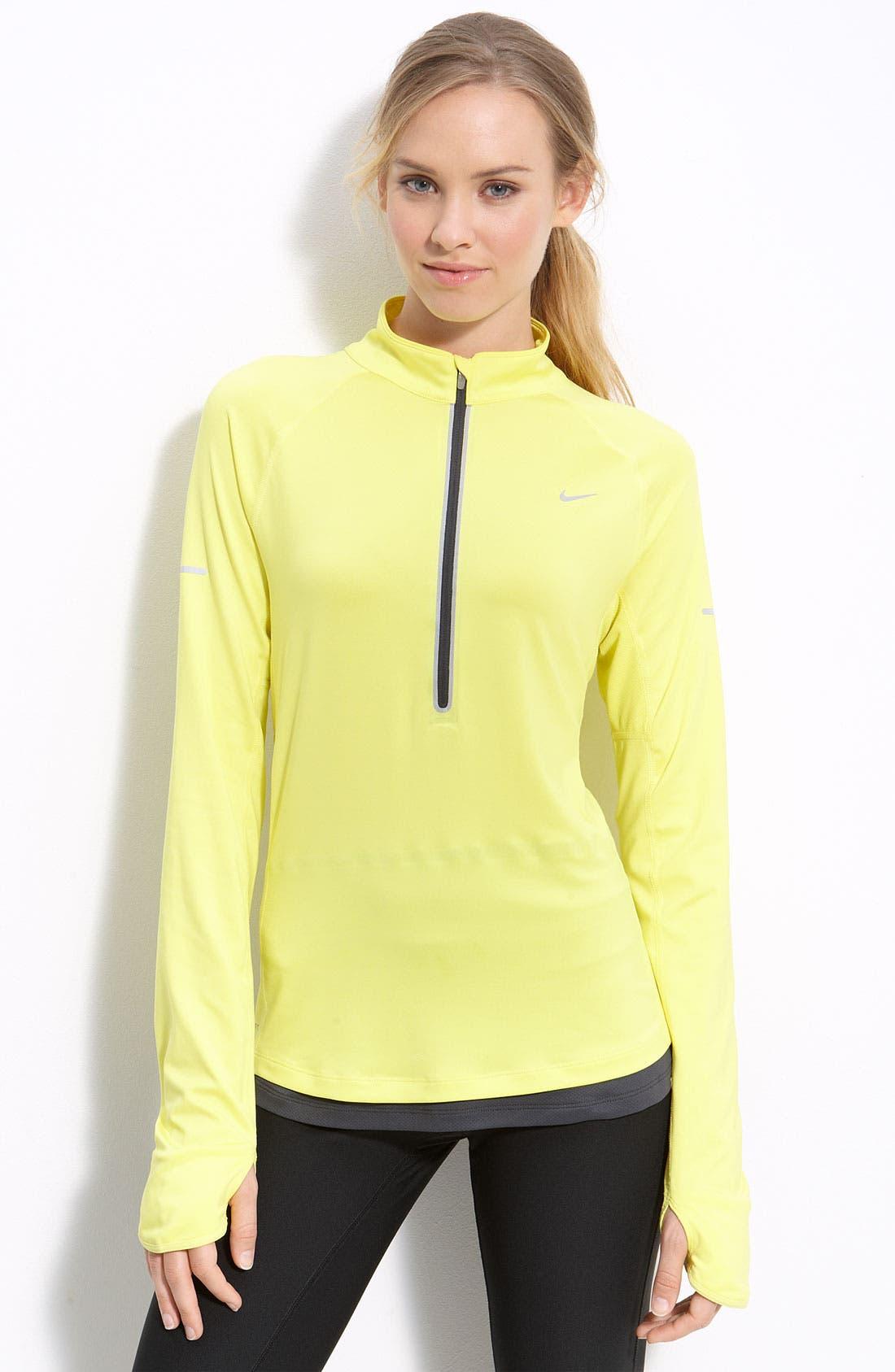 Alternate Image 1 Selected - Nike 'Denier Differential' Half Zip Running Top
