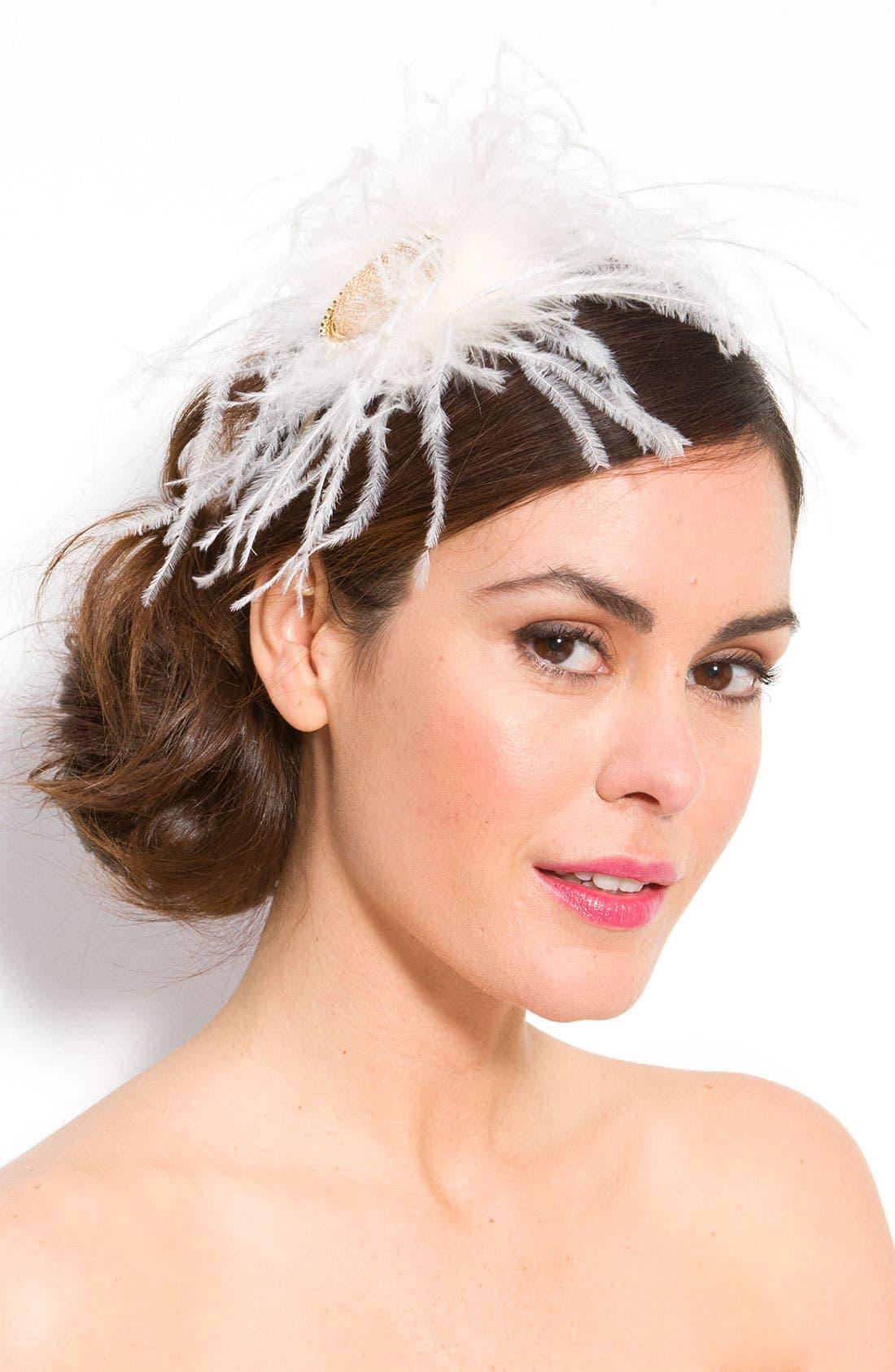 Alternate Image 1 Selected - Tasha 'Fancy Frock' Feather Fascinator Headband