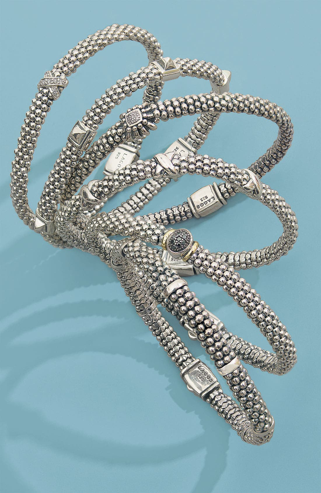 Alternate Image 2  - LAGOS 'Prêt-à-Porter - Daisy' Diamond Caviar Rope Bracelet