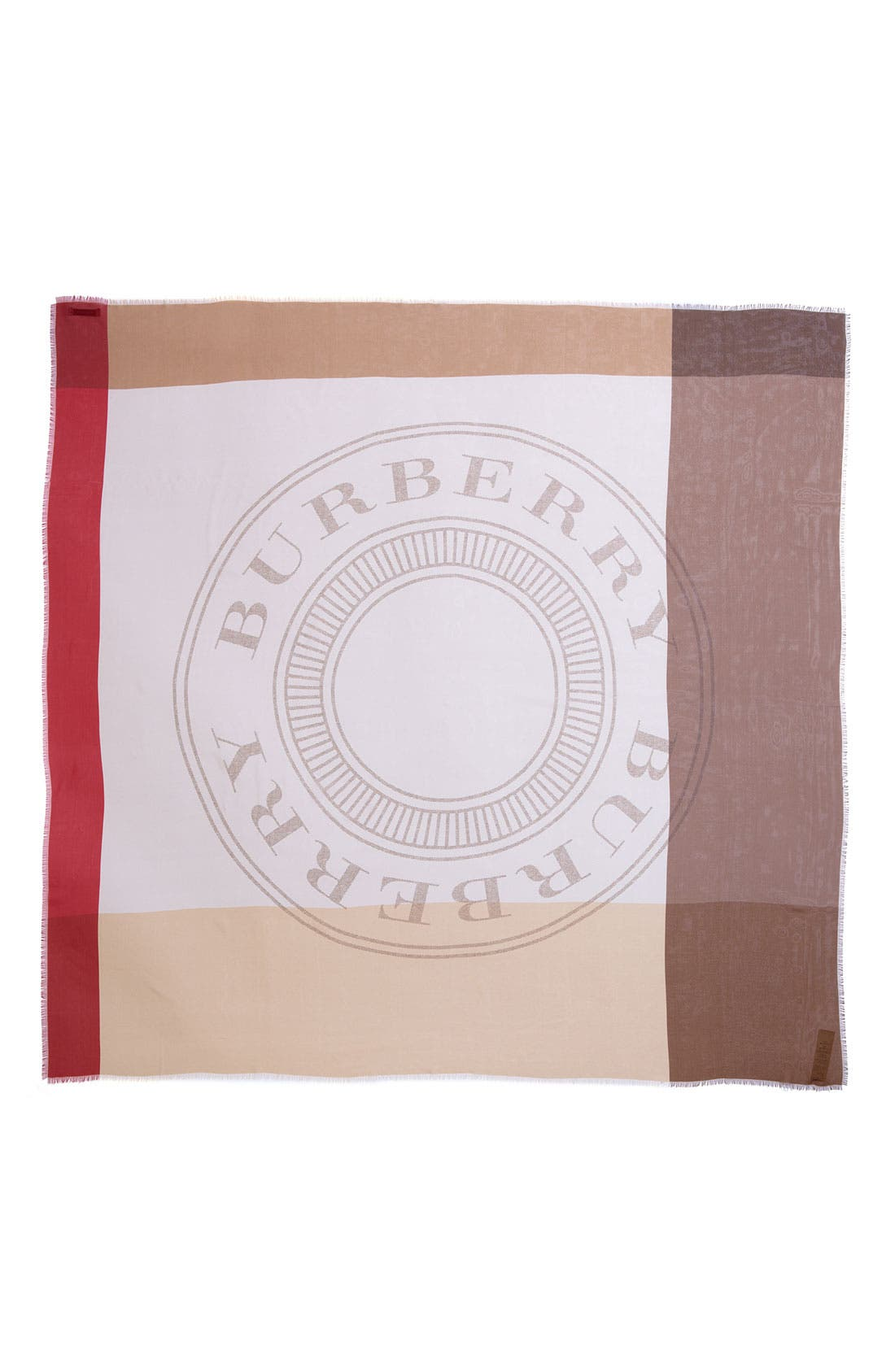 Alternate Image 2  - Burberry Heritage Stamp Silk Scarf