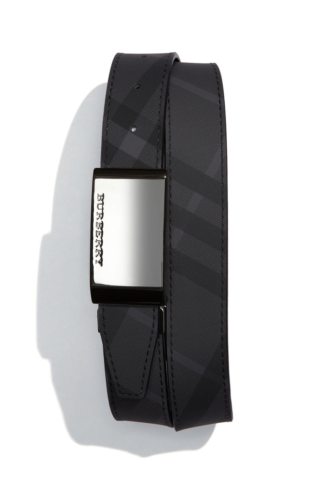 Main Image - Burberry Check Print Belt