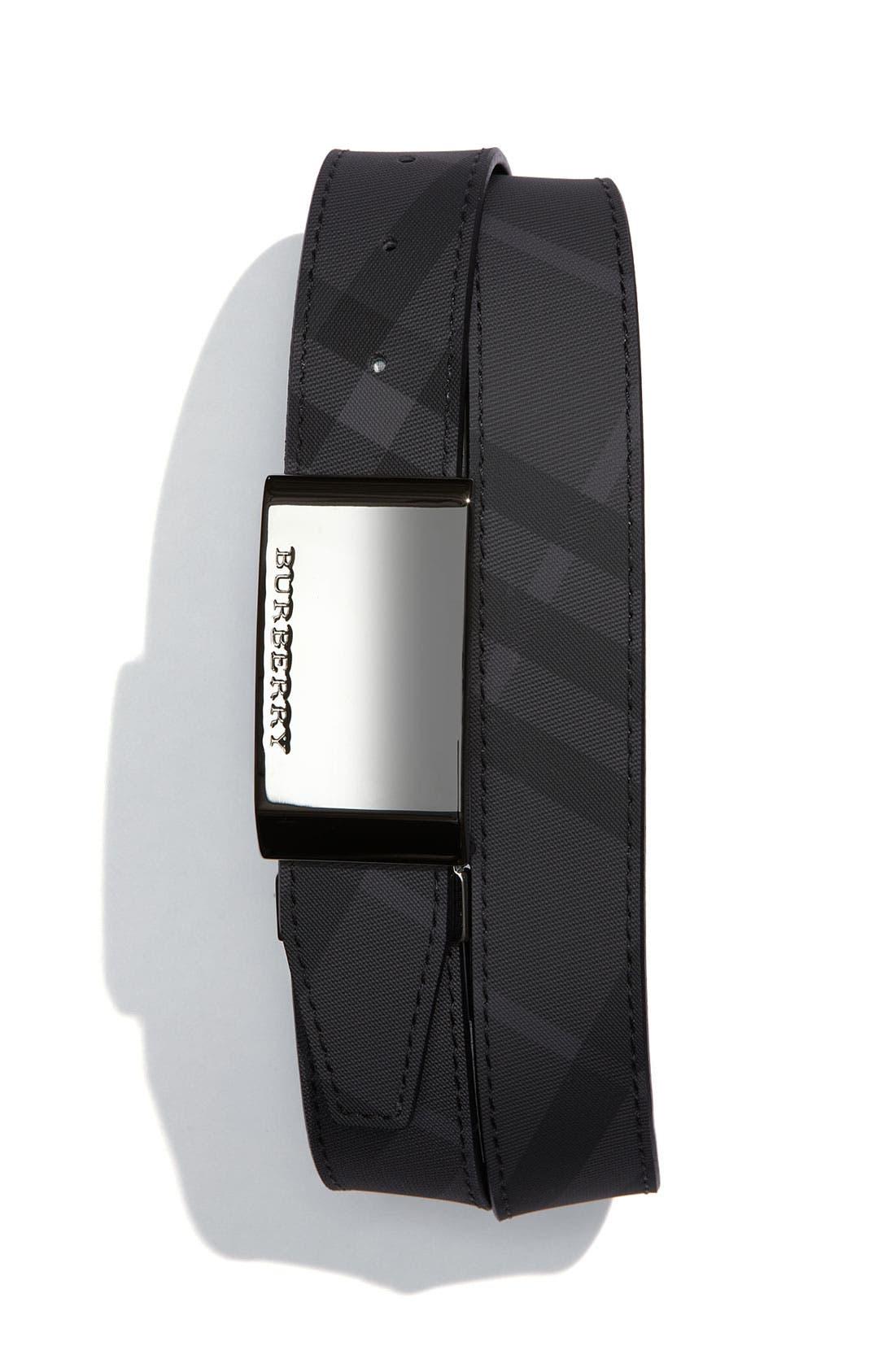 Main Image - Burberry Check Print Belt