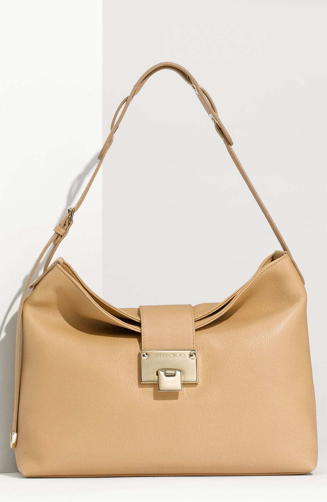 Main Image - Jimmy Choo 'Small Rachel' Grainy Calfskin Leather Shoulder Bag