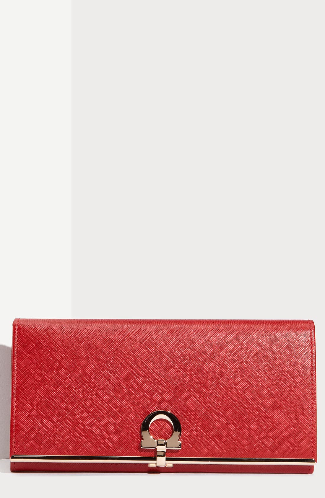 Alternate Image 1 Selected - Salvatore Ferragamo 'Gancini Icona' Saffiano Leather Wallet