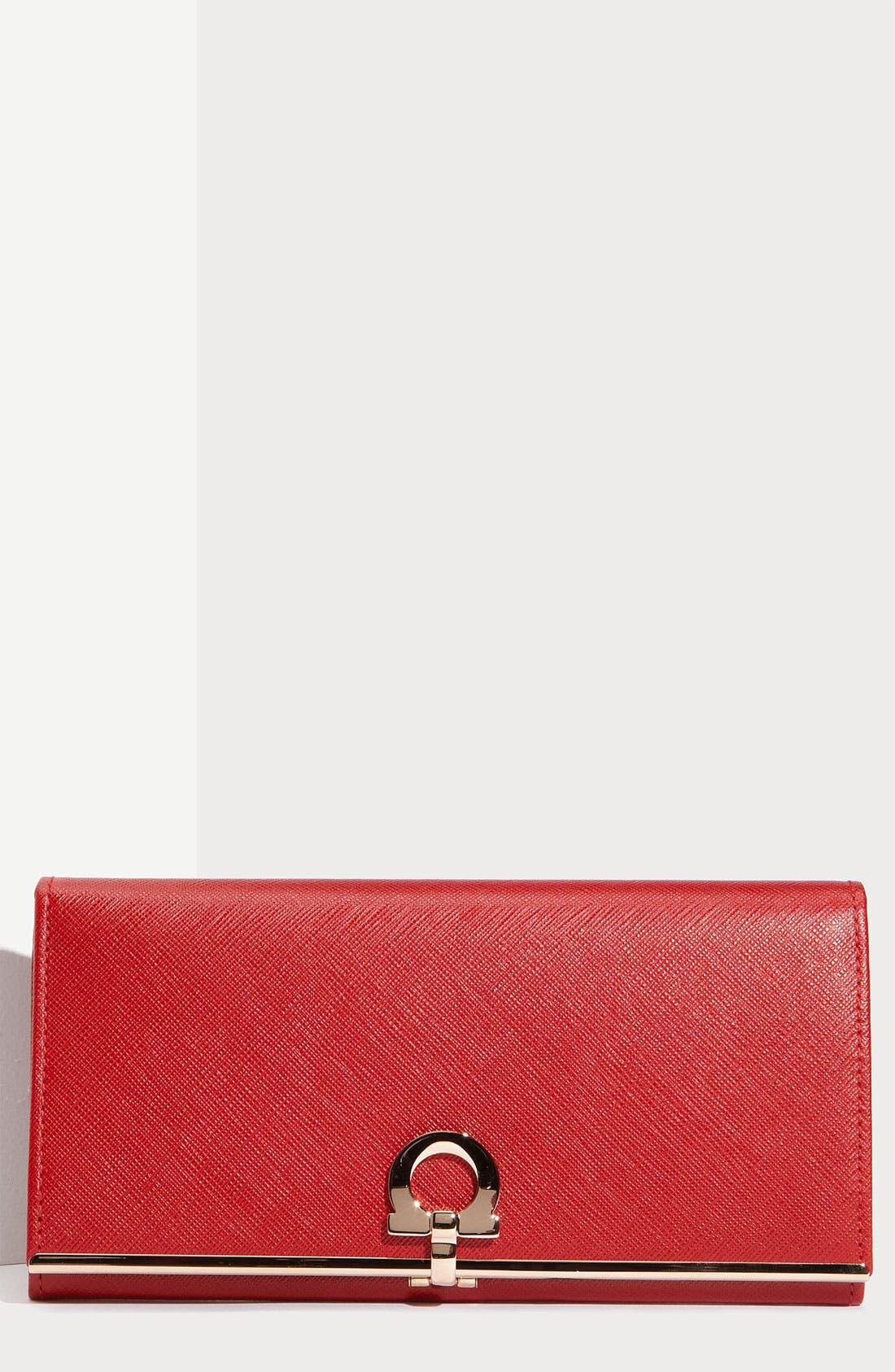 Main Image - Salvatore Ferragamo 'Gancini Icona' Saffiano Leather Wallet