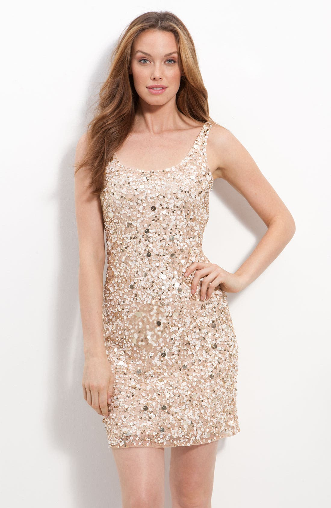 Main Image - Pisarro Nights Short Sequin Sheath Dress