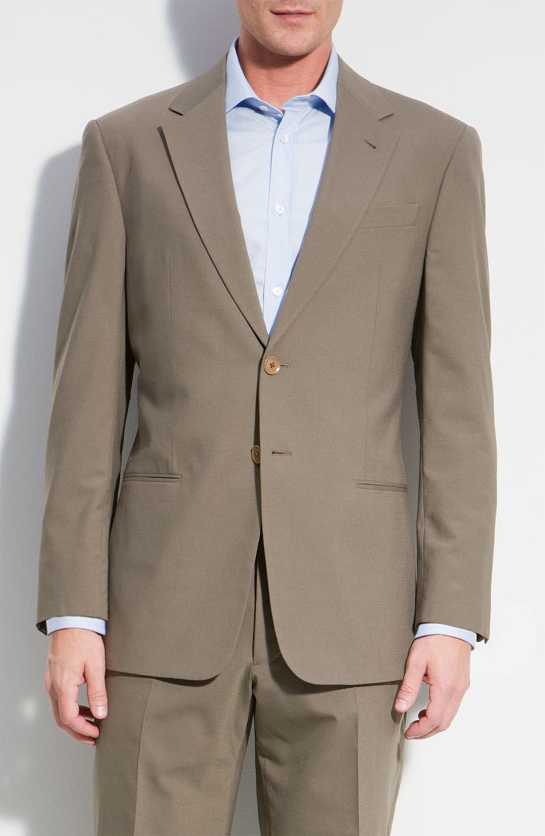 Alternate Image 1 Selected - Armani Collezioni 'Executive' Wool Blend Suit