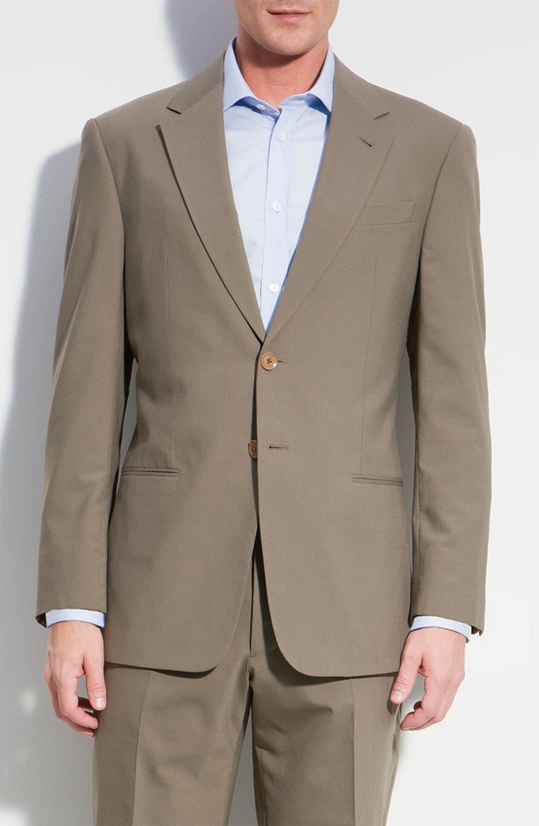Main Image - Armani Collezioni 'Executive' Wool Blend Suit