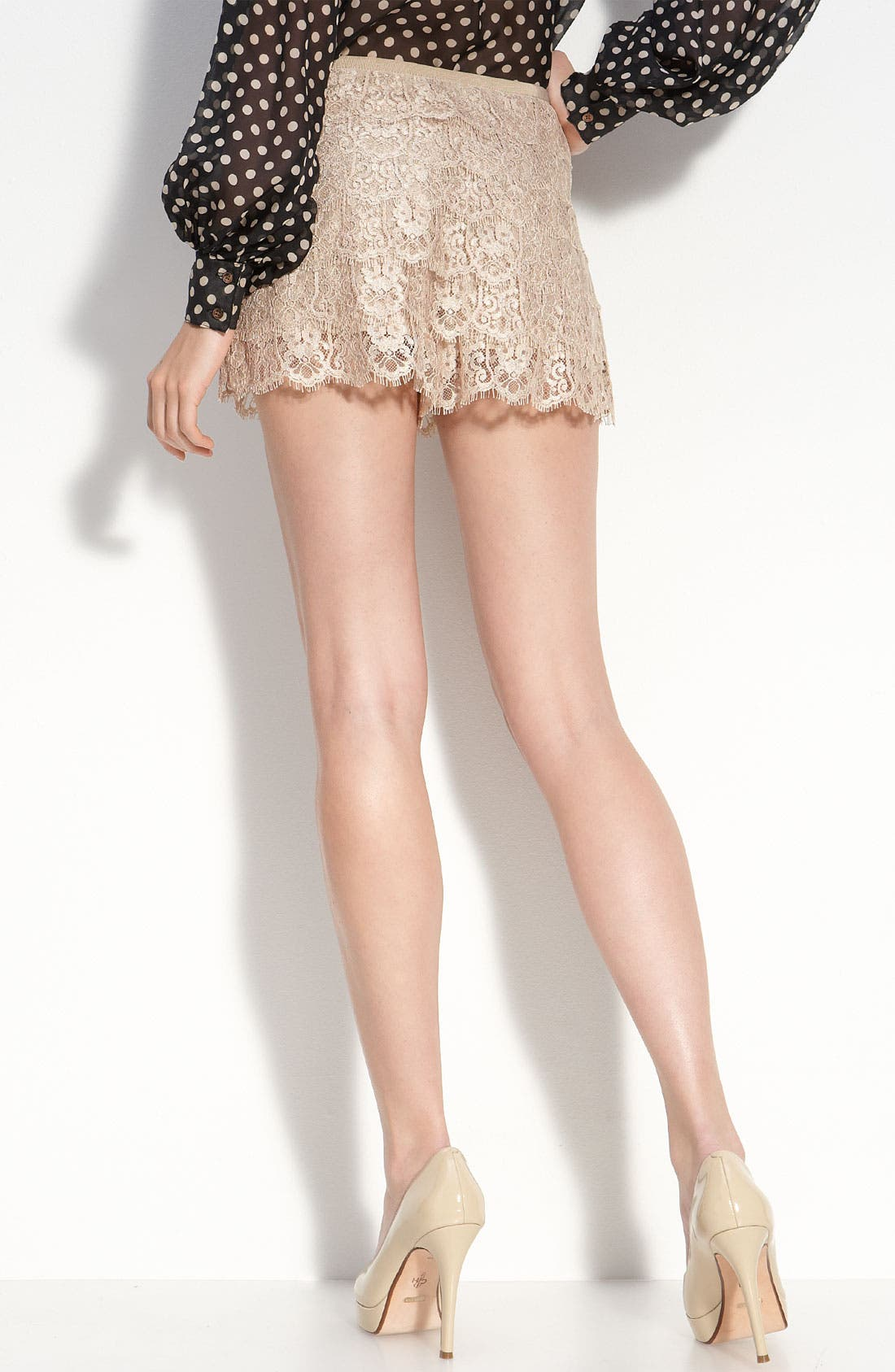 Alternate Image 2  - Haute Hippie Tiered Lace Shorts