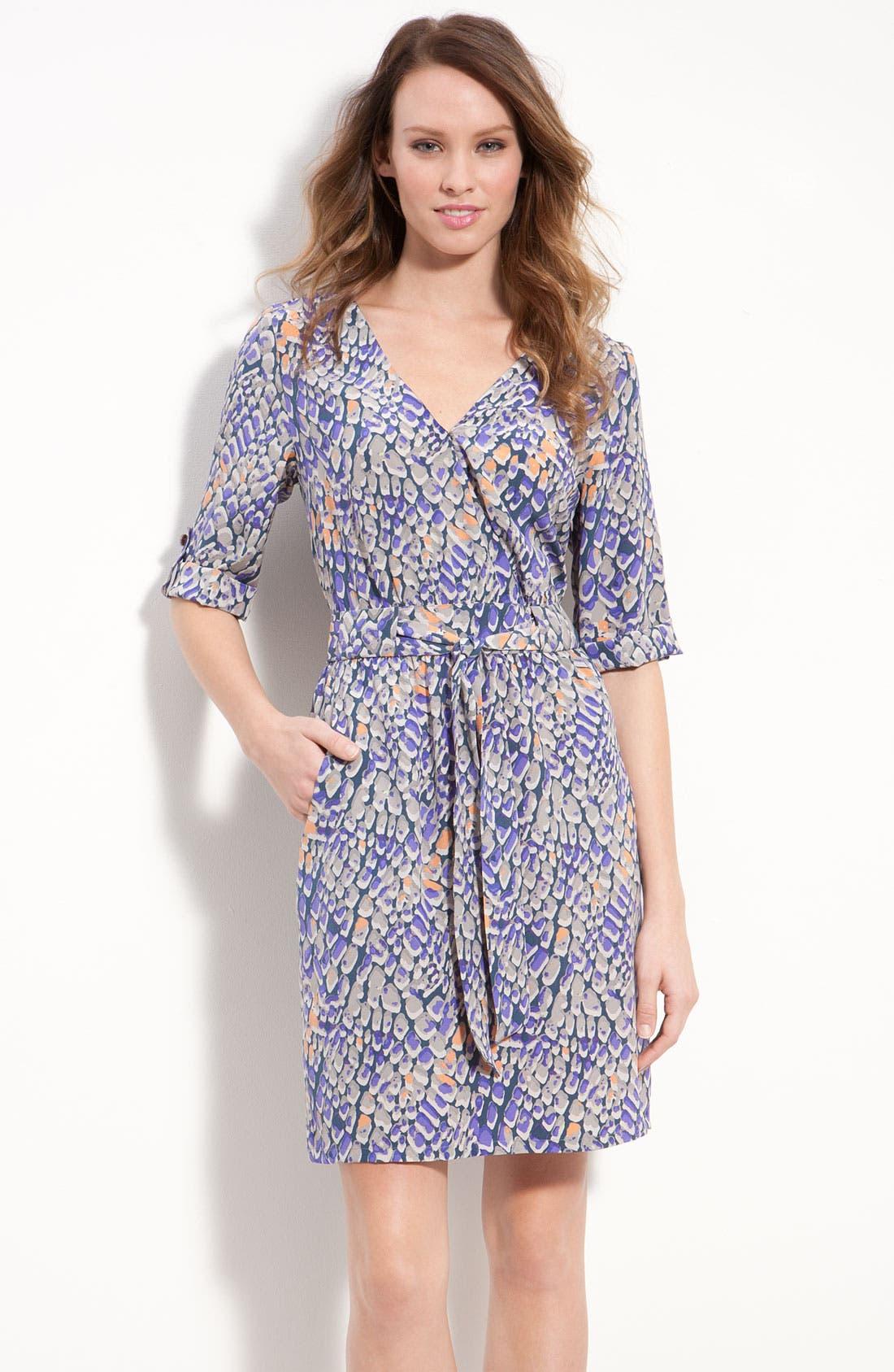 Main Image - Presley Skye Print Silk Crêpe de Chine Dress