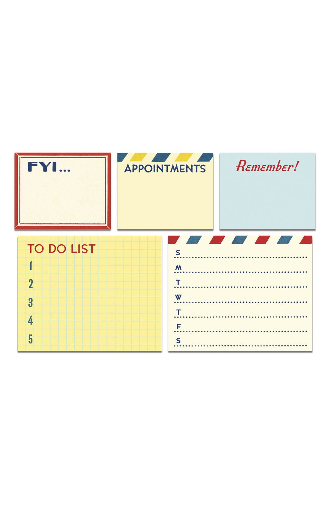 Alternate Image 2  - Cavallini & Co. 'Vintage To-Do' Sticky Notes (Set of 5)