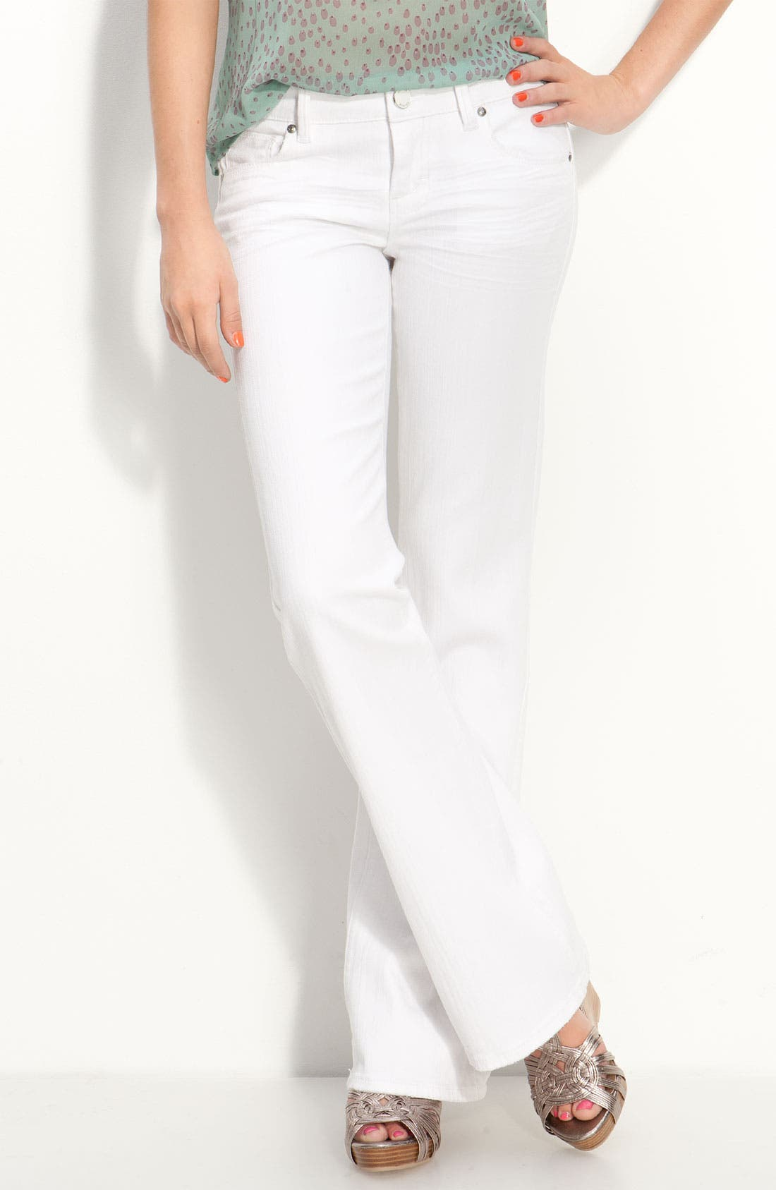 Alternate Image 1 Selected - STS Blue 'Getaway' Flare Leg Jeans  (Juniors)