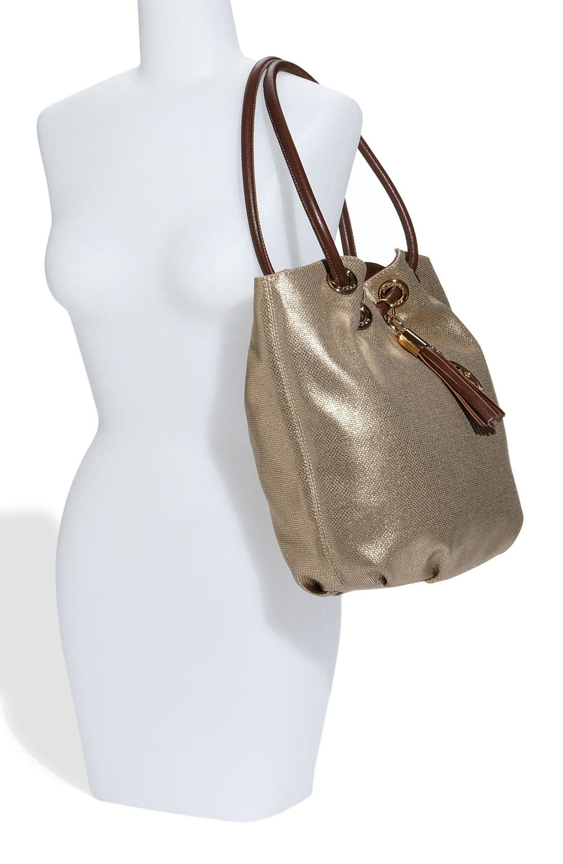 Alternate Image 2  - MICHAEL Michael Kors 'Ring' Metallic Canvas Tote