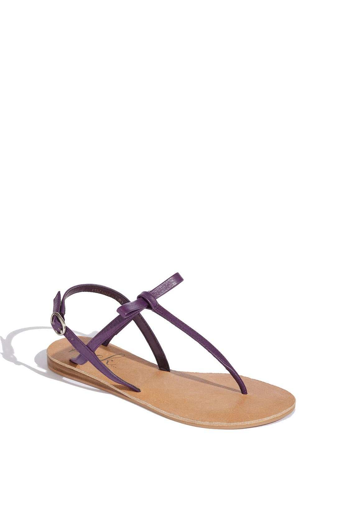 Alternate Image 1 Selected - Peek 'Affinity' Leather Sandal (Toddler, Little Kid & Big Kid)