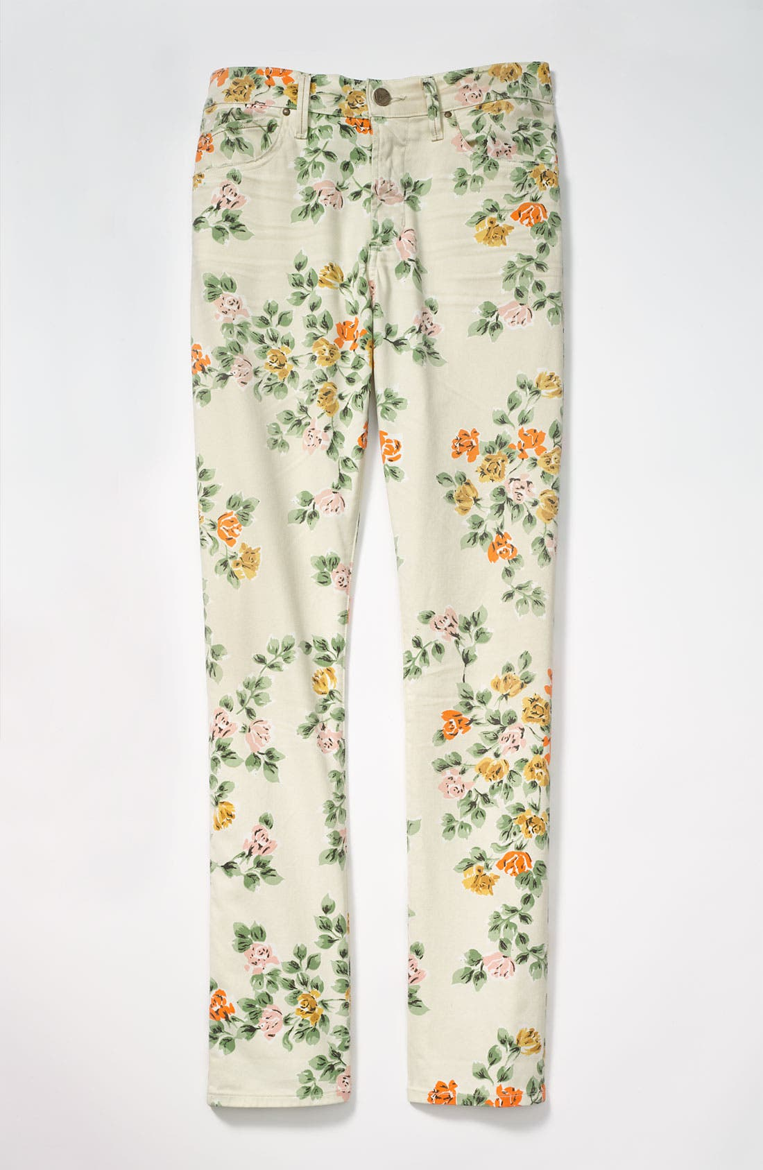 Alternate Image 4  - Citizens of Humanity 'Mandy' High Waist Slim Leg Floral Print Jeans (Natural Petite Rose)
