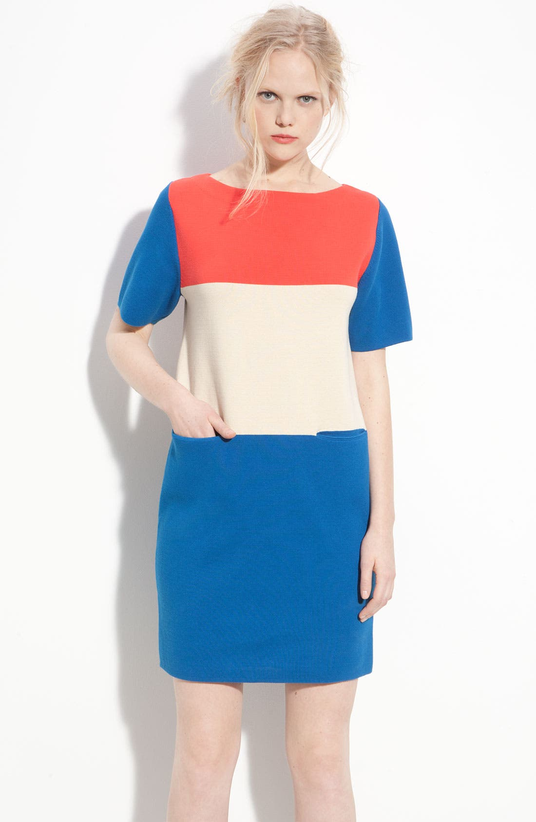 Alternate Image 1 Selected - MARC BY MARC JACOBS 'Norwood' Colorblock Sweater Dress