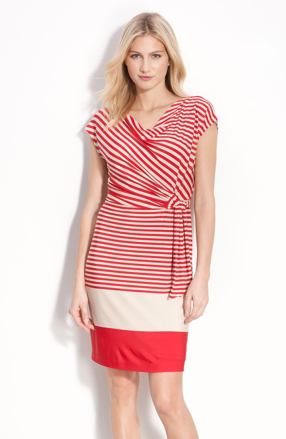 Main Image - Donna Morgan Drape Neck Jersey Dress