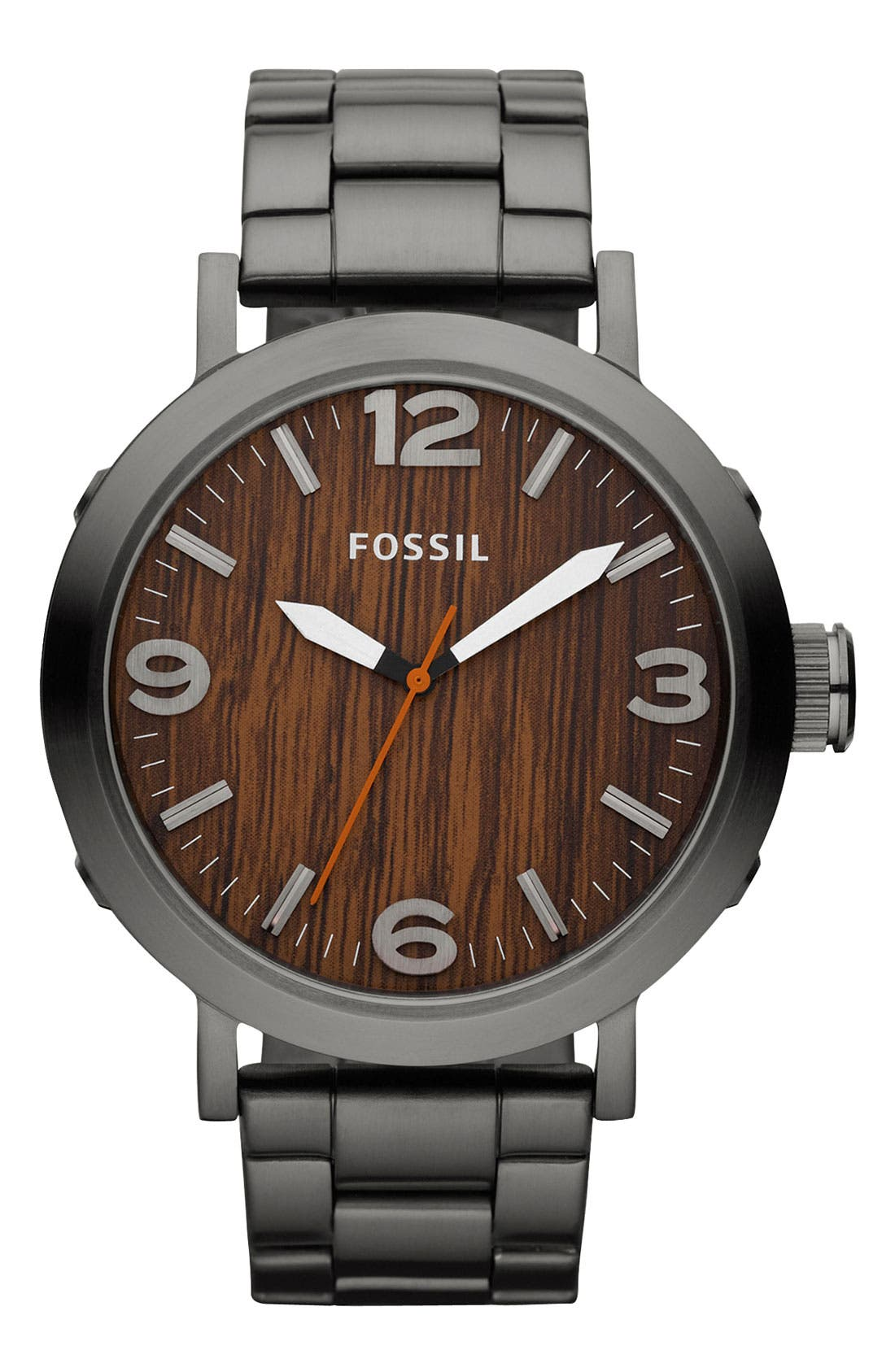 Alternate Image 1 Selected - Fossil 'Clyde' Bracelet Watch