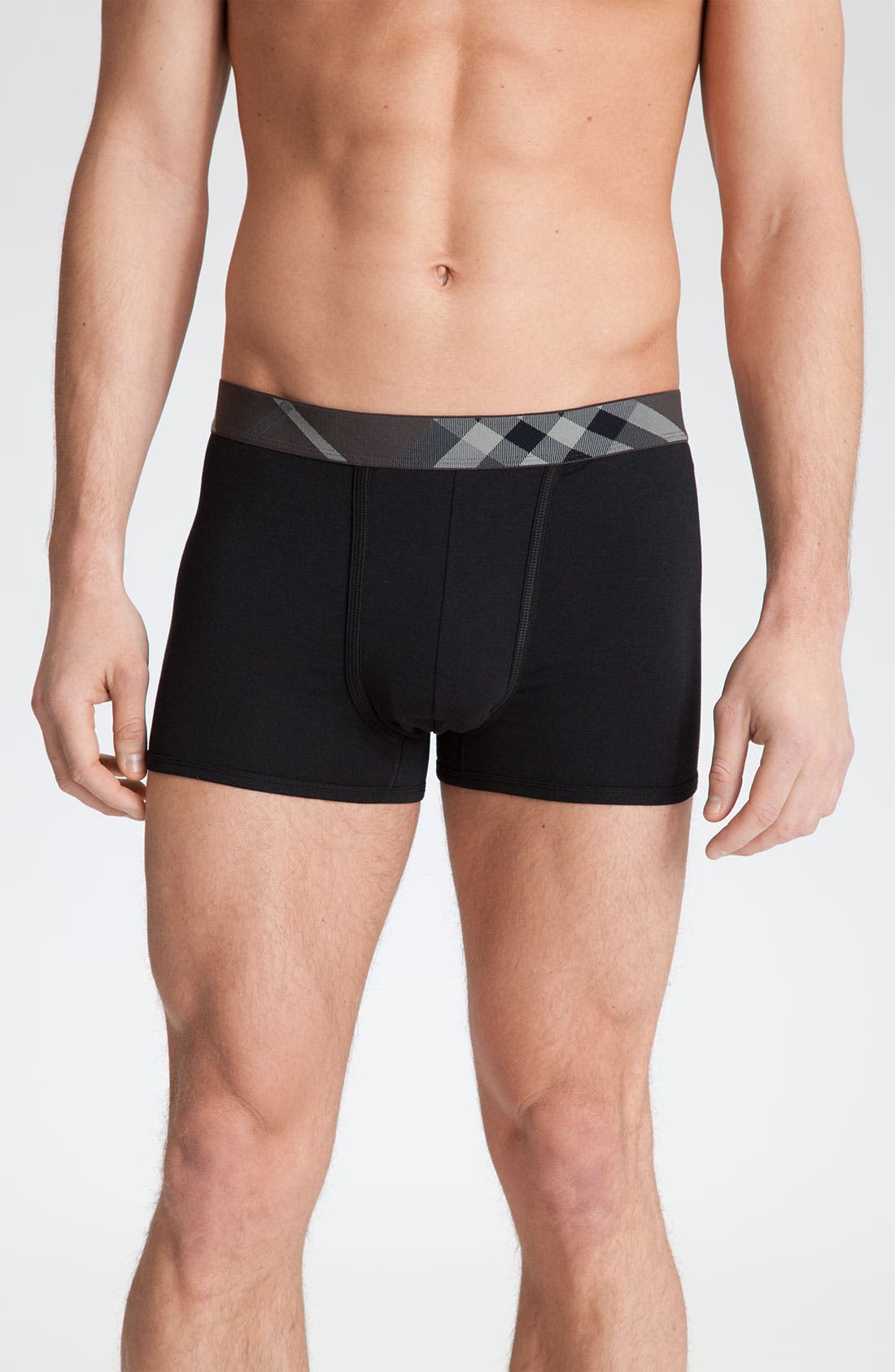 Main Image - Burberry Check Band Trunks