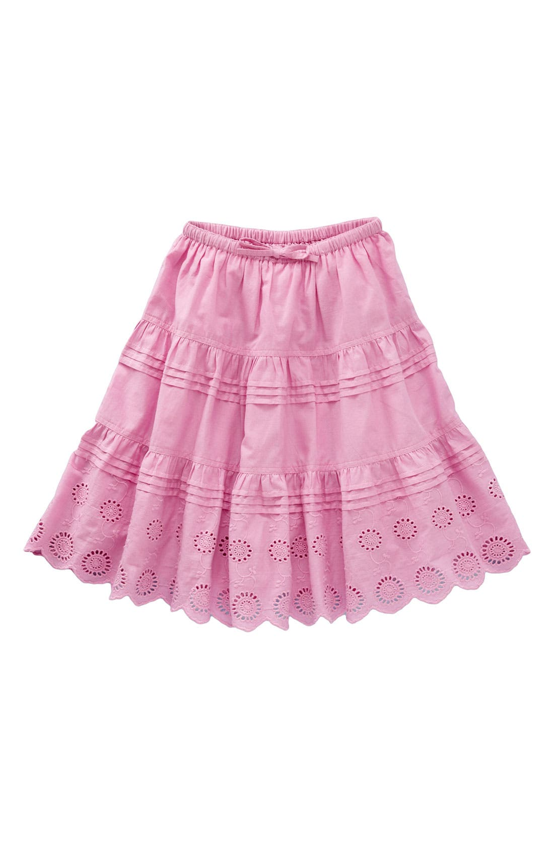 Alternate Image 1 Selected - Mini Boden 'Broiderie Twirly' Skirt (Little Girl & Big Girl)