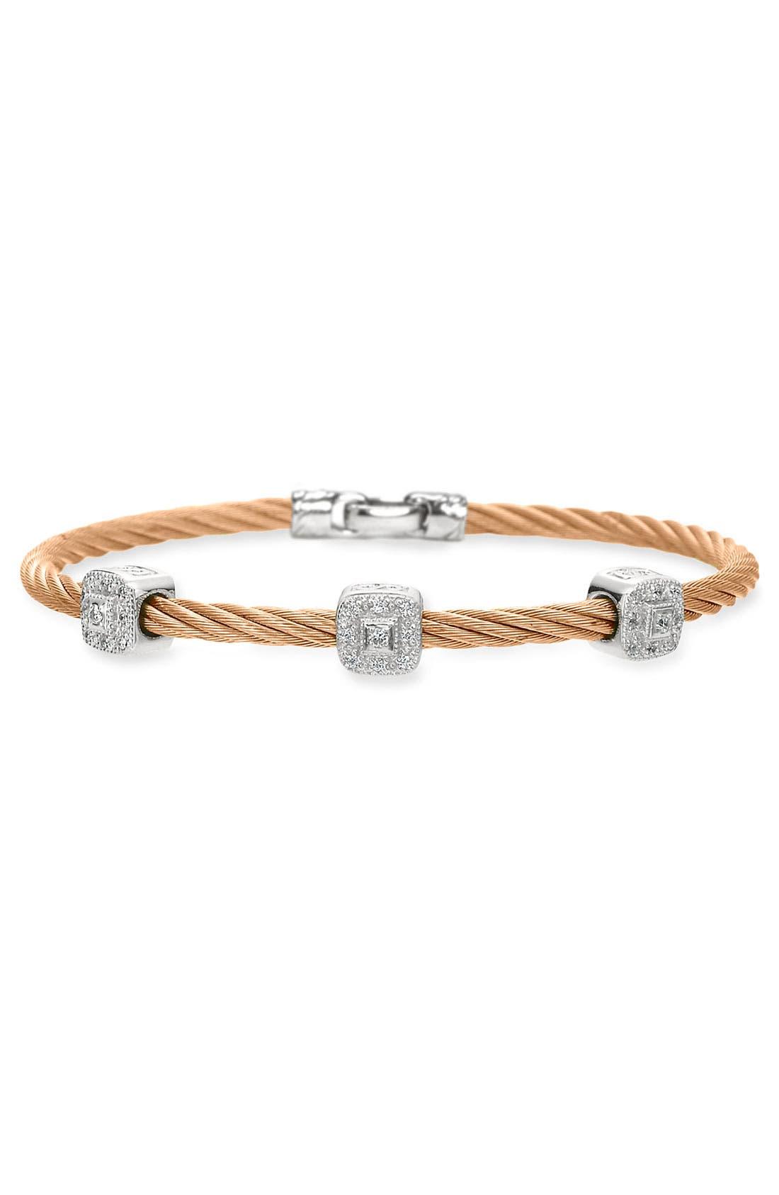 Alternate Image 1 Selected - ALOR® Diamond Station Bracelet