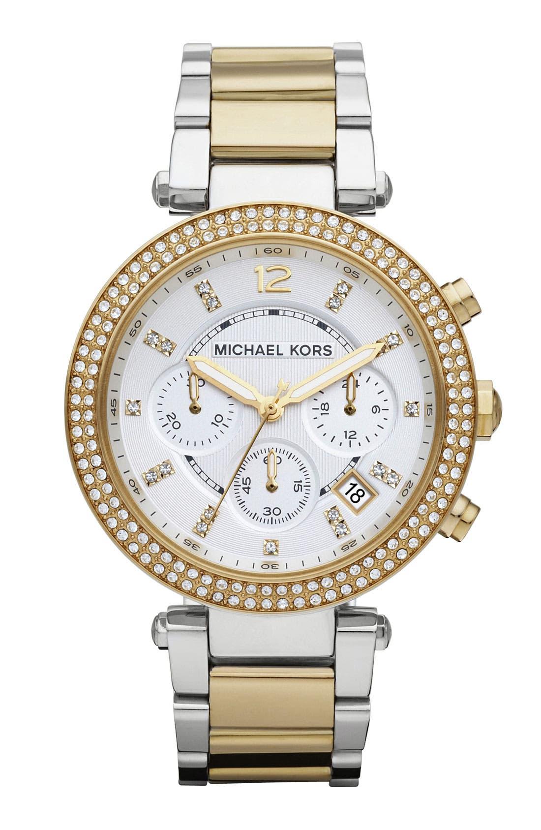Michael Kors 'Parker' Chronograph Bracelet Watch, 39mm