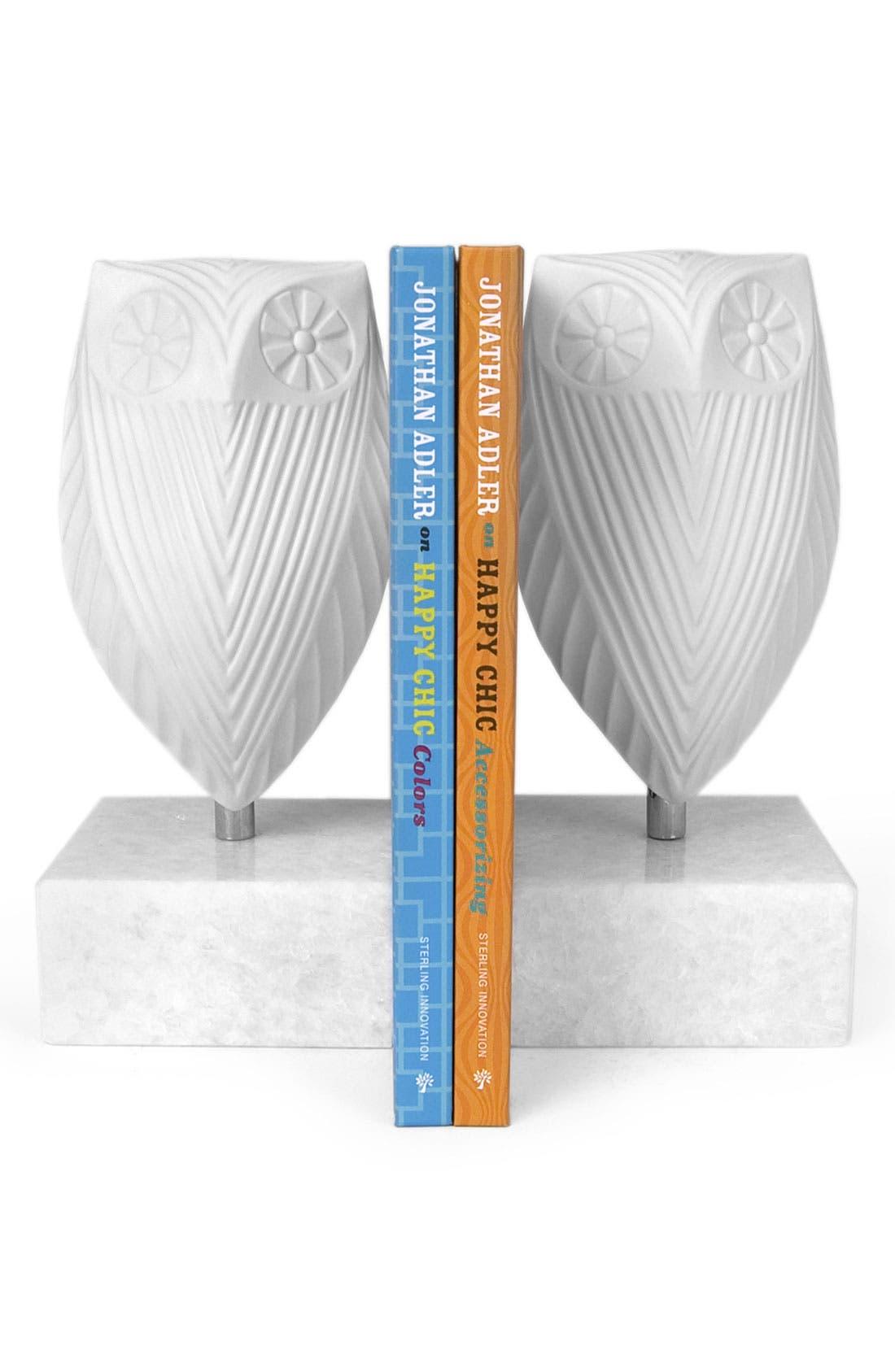 Alternate Image 2  - Jonathan Adler 'Owl' Porcelain Bookends