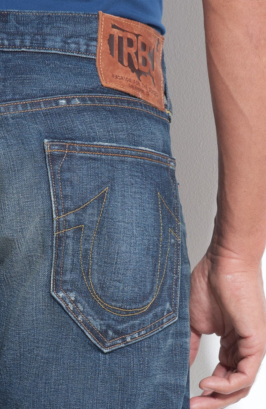 Alternate Image 3  - True Religion Brand Jeans 'Danny Phoenix' Bootcut Jeans (Blue Grass)