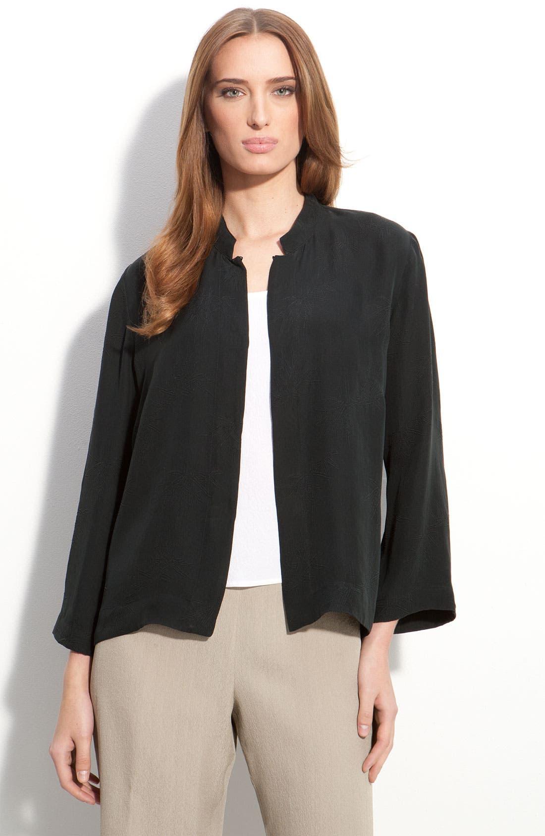 Alternate Image 1 Selected - Citron Short Silk Jacket (Petite)