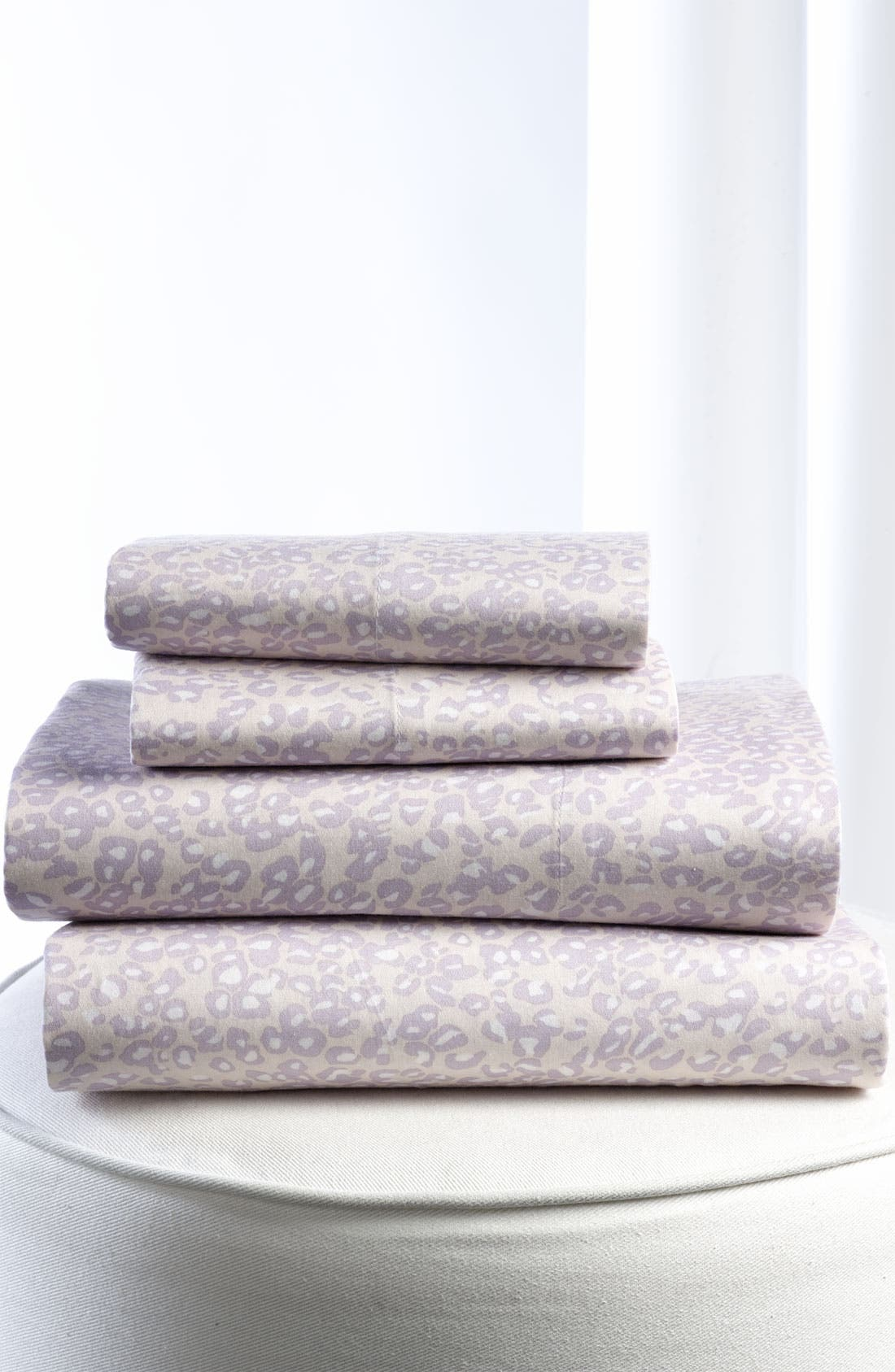 Alternate Image 1 Selected - Diane von Furstenberg 'Tiny Leopard' 300 Thread Count Flat Sheet