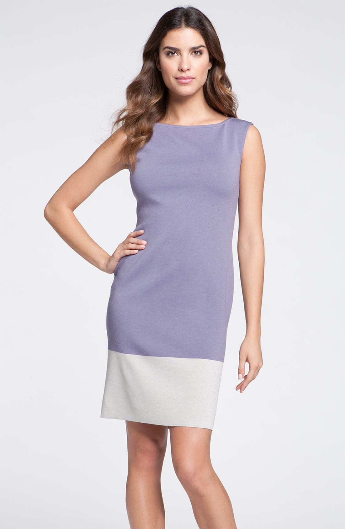 Main Image - St. John Collection Colorblock Milano Knit Sheath Dress