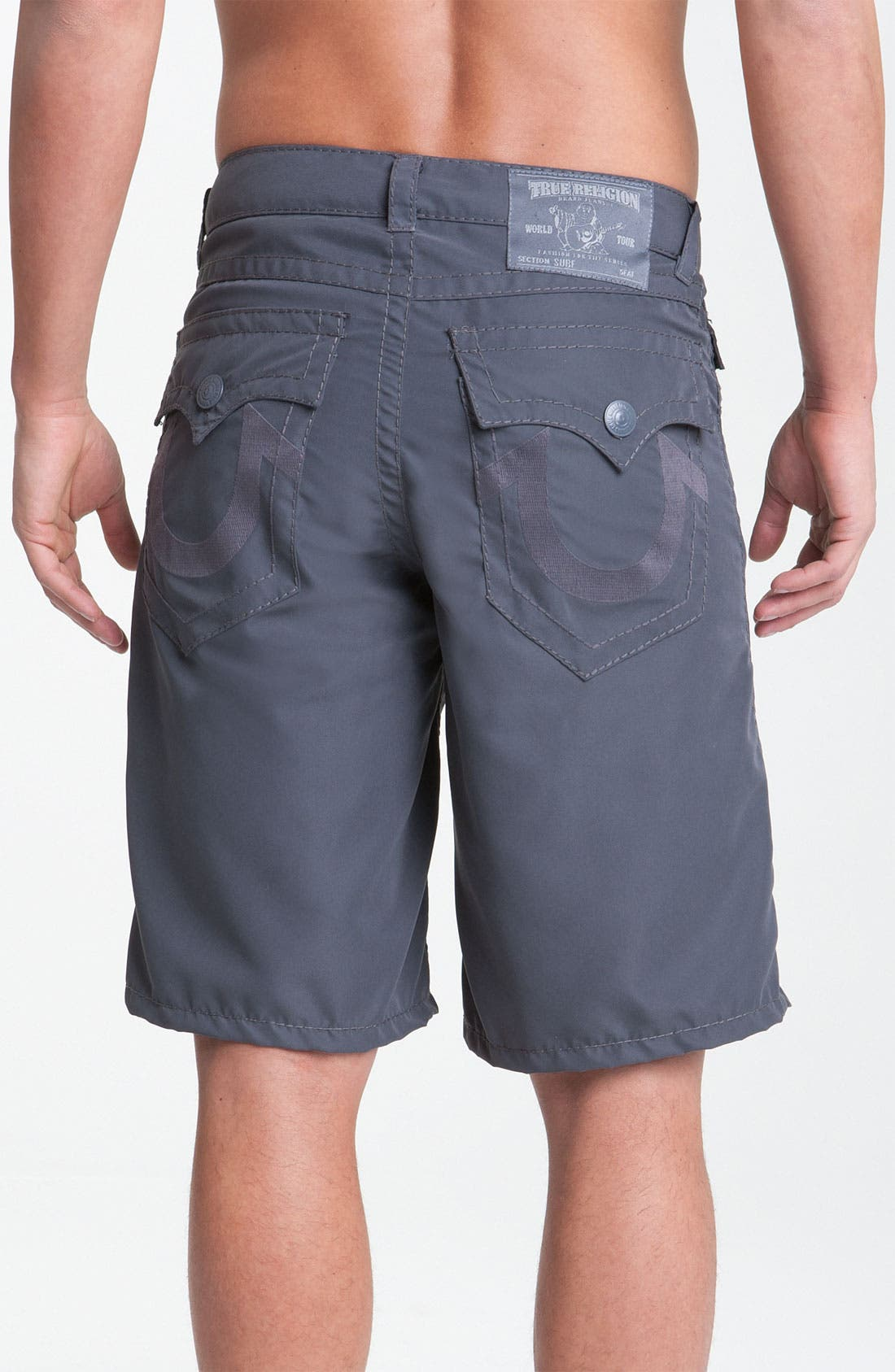 'PCH' Board Shorts,                         Main,                         color, Charcoal
