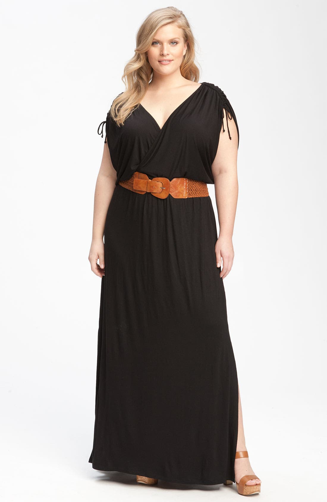 Main Image - Remain Belted Maxi Dress (Plus)